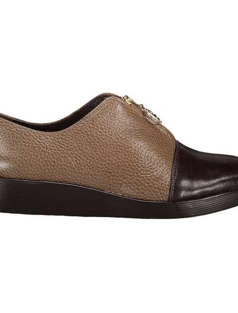 کفش چرم تخت زنانه - شهر چرم