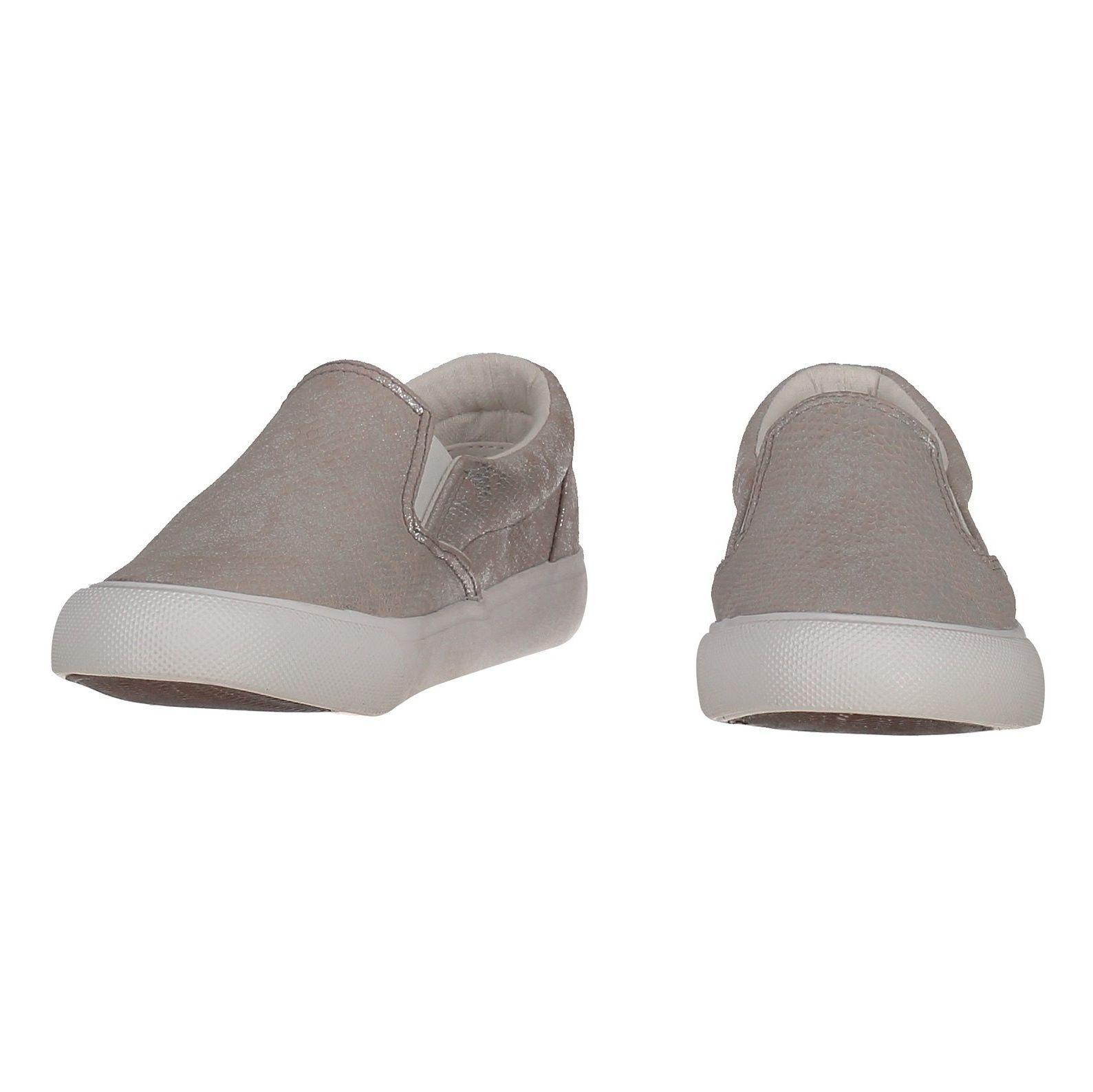 کفش تخت پارچه ای زنانه - نیو لوک - نقره اي - 4
