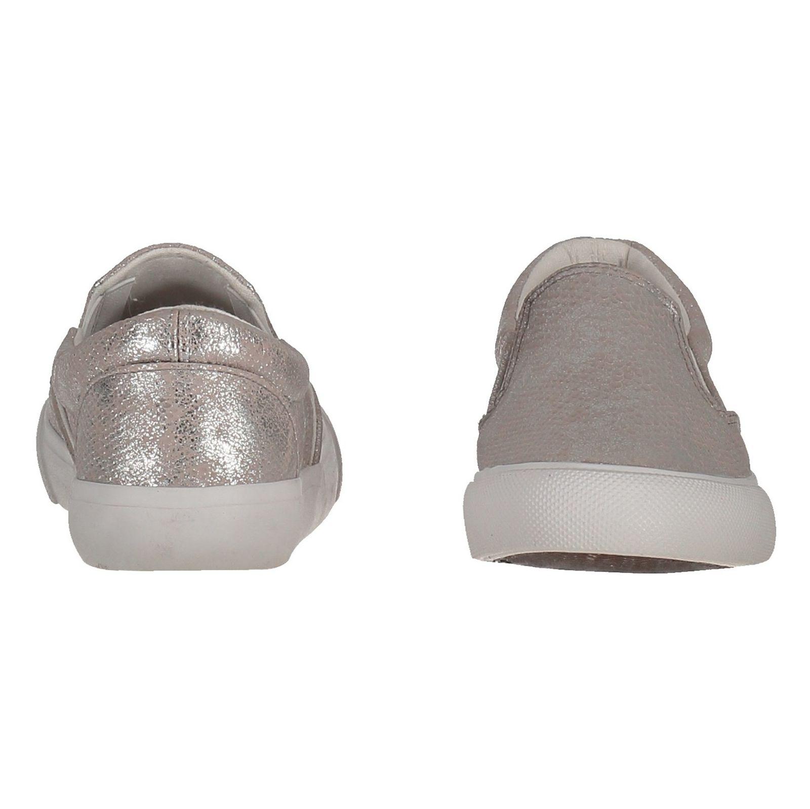 کفش تخت پارچه ای زنانه - نیو لوک - نقره اي - 5