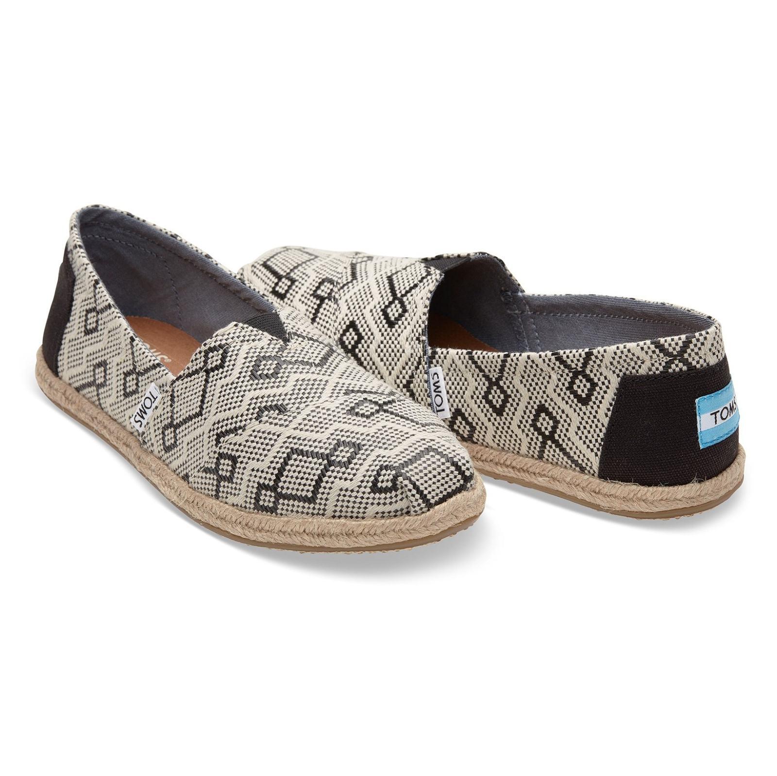 کفش تخت پارچه ای زنانه - تامز - کرم و مشکي  - 3