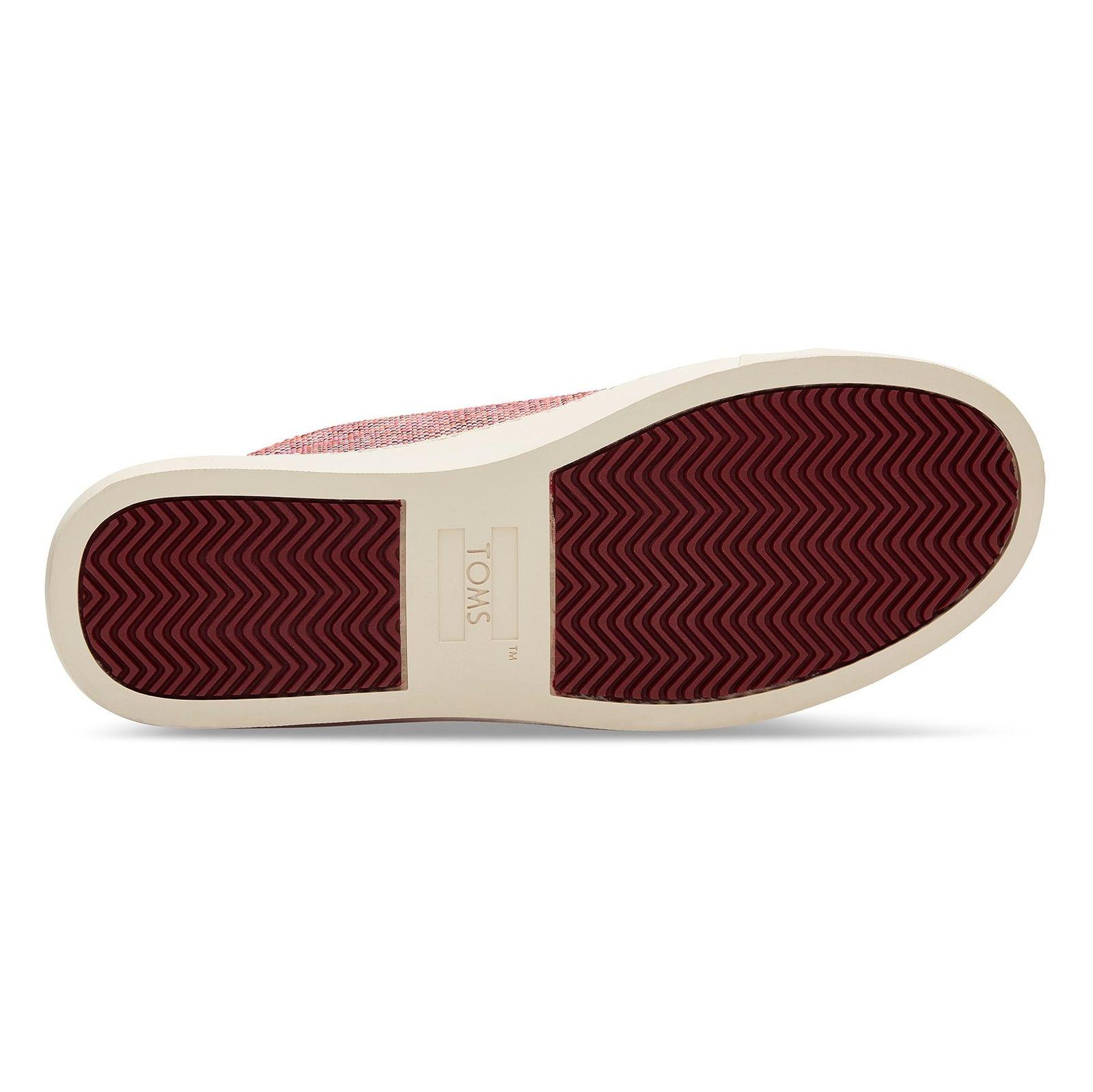 کتانی پارچه ای بندی زنانه - تامز - قرمز - 3