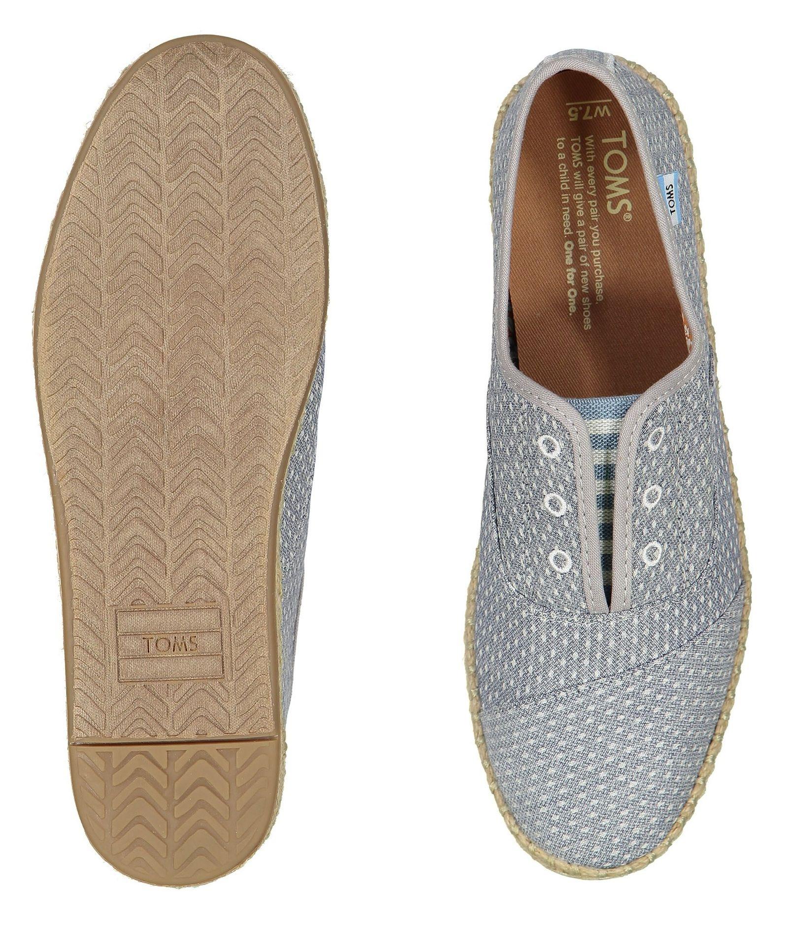 کفش تخت پارچه ای زنانه - تامز - آبي - 2