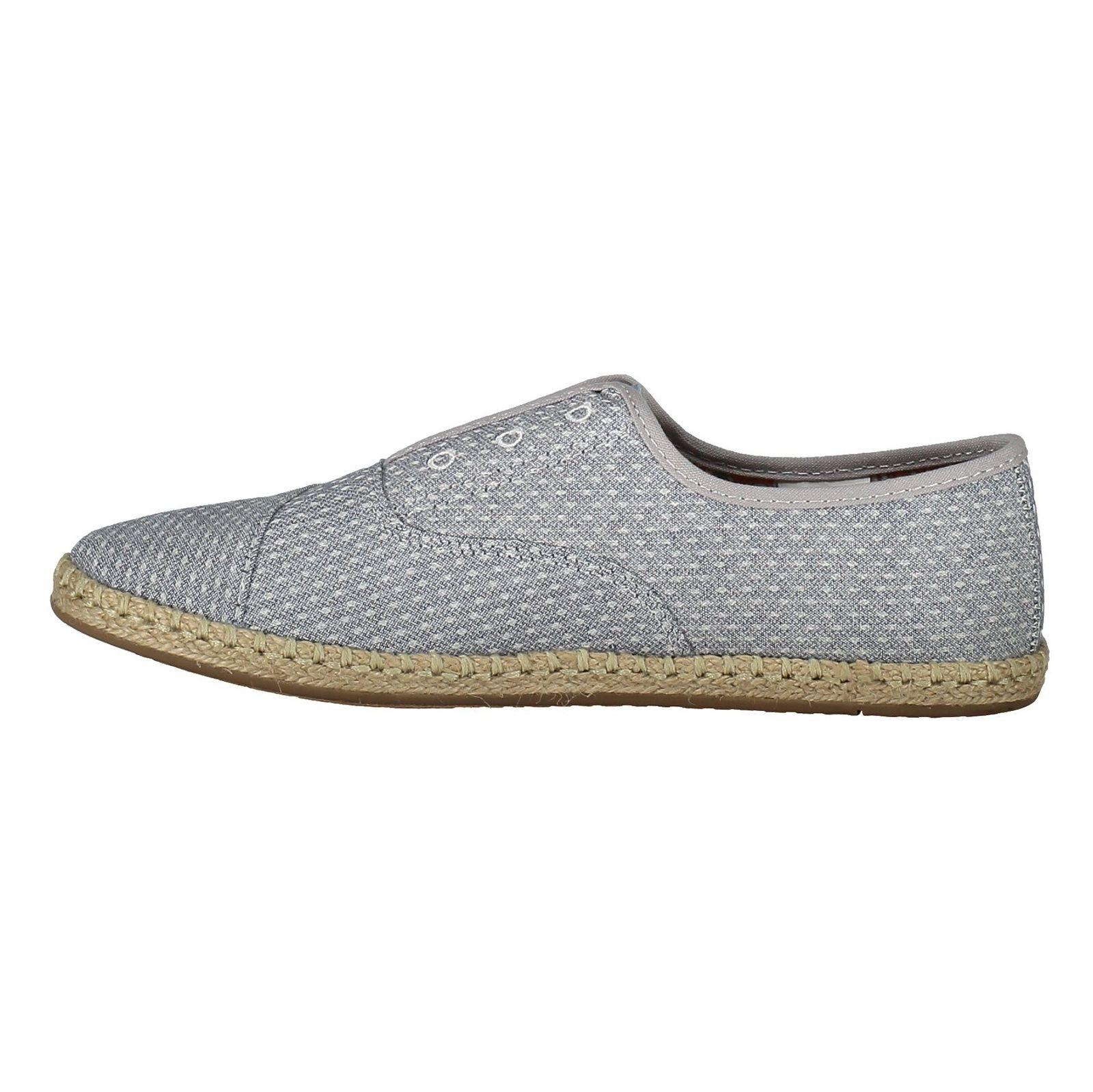 کفش تخت پارچه ای زنانه - تامز - آبي - 3