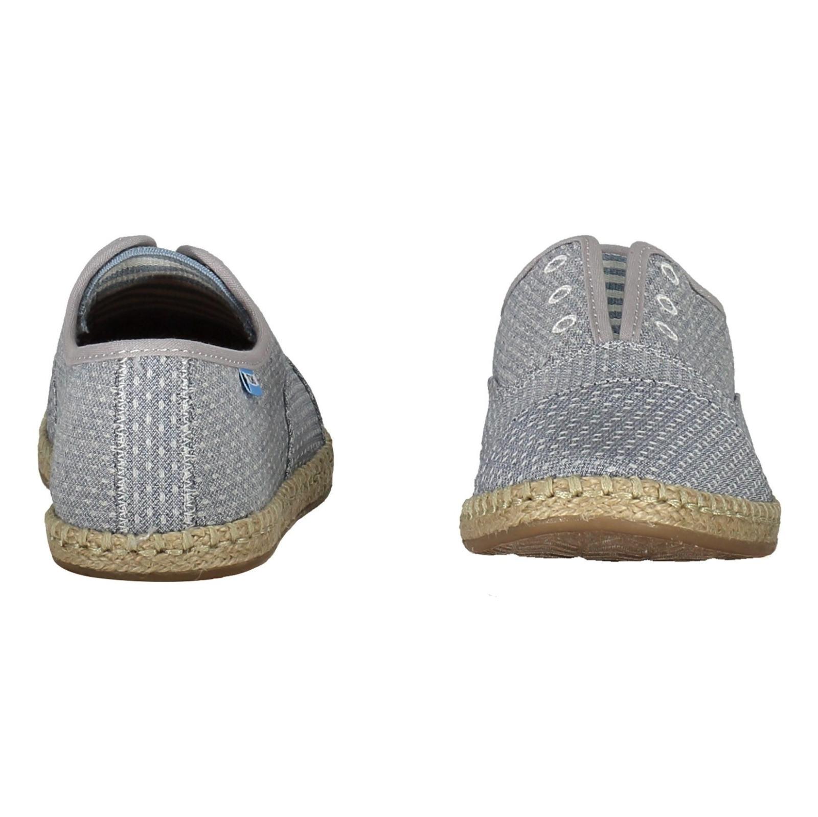 کفش تخت پارچه ای زنانه - تامز - آبي - 5