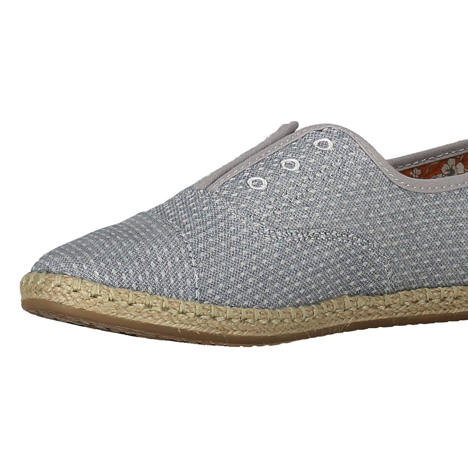 کفش تخت پارچه ای زنانه - تامز - آبي - 6