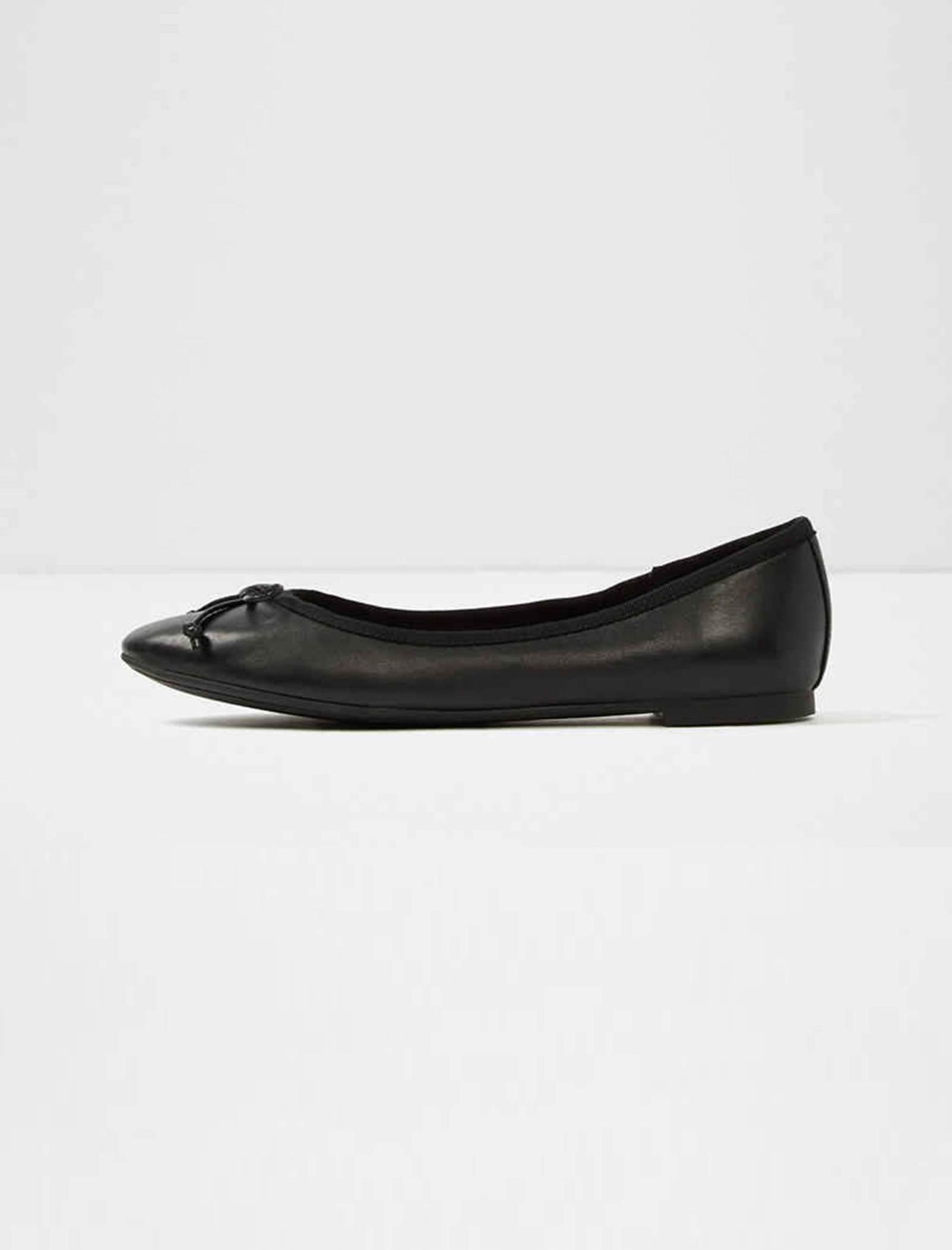 کفش تخت عروسکی چرم زنانه - آلدو - مشکي - 2