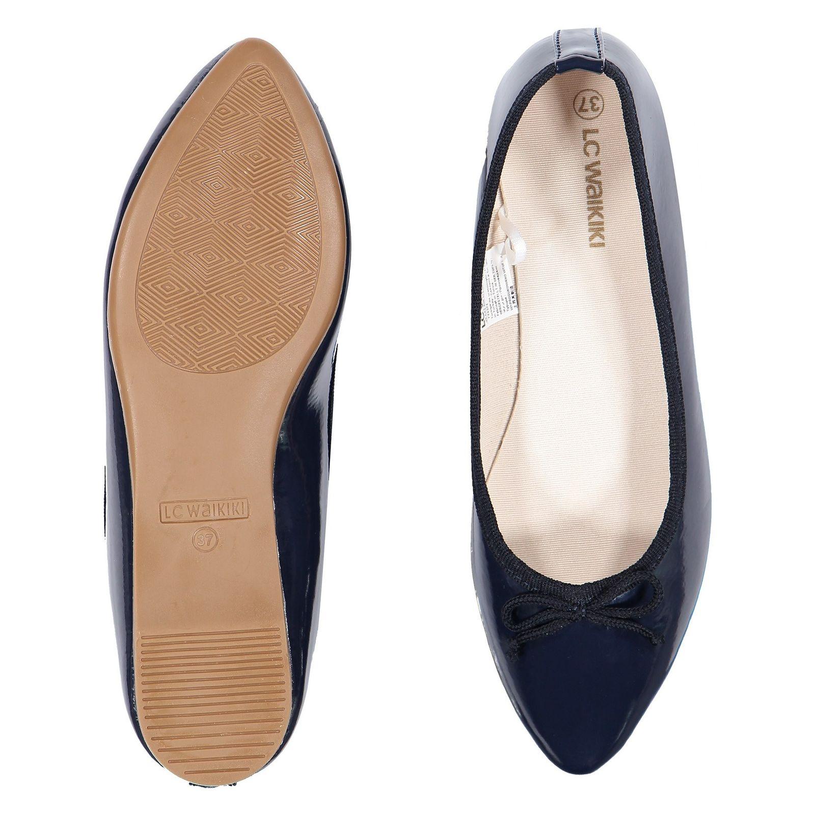 کفش تخت عروسکی زنانه - ال سی وایکیکی - سرمه اي - 2