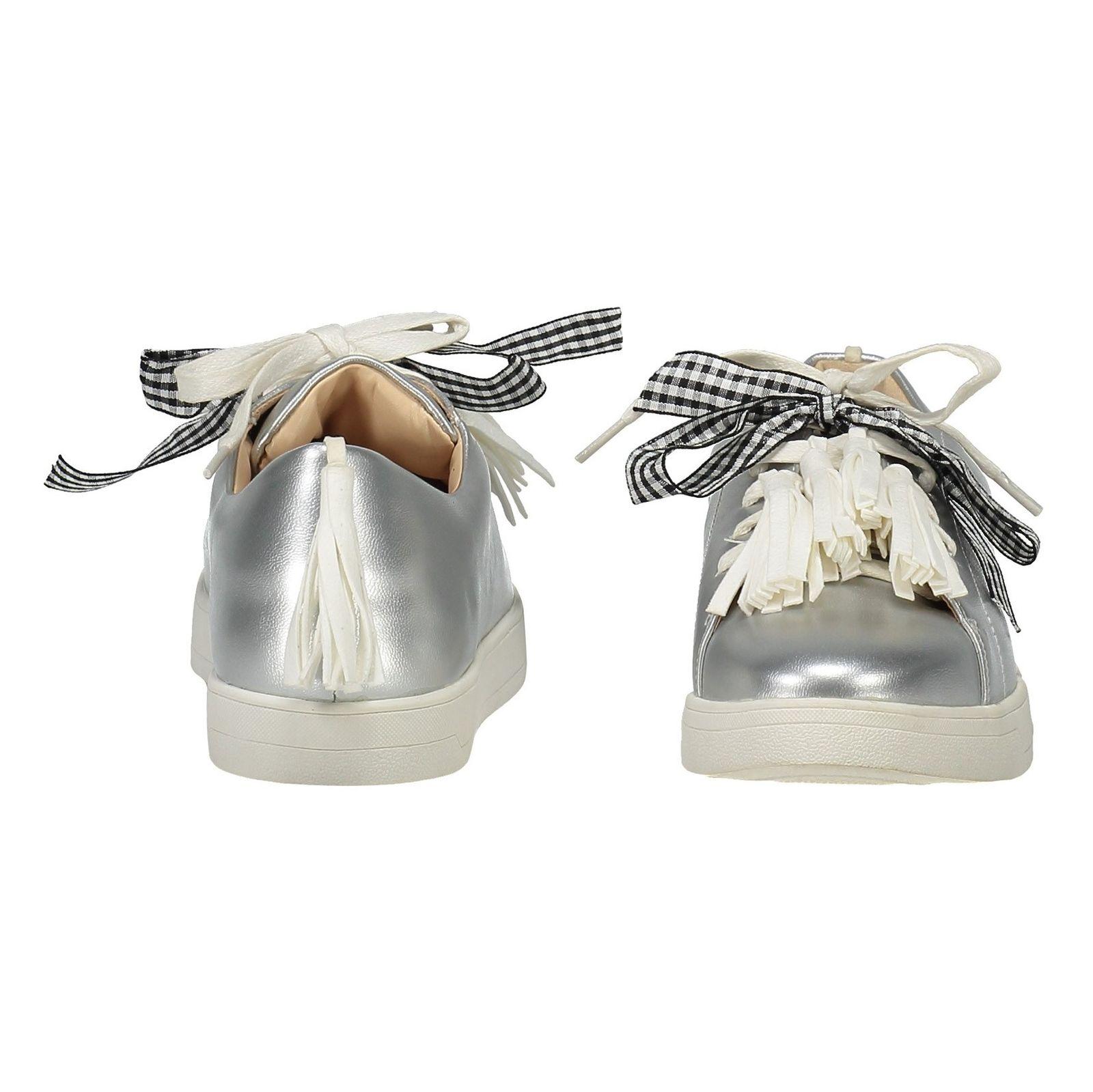 کفش تخت زنانه - بالدی - نقره اي - 5