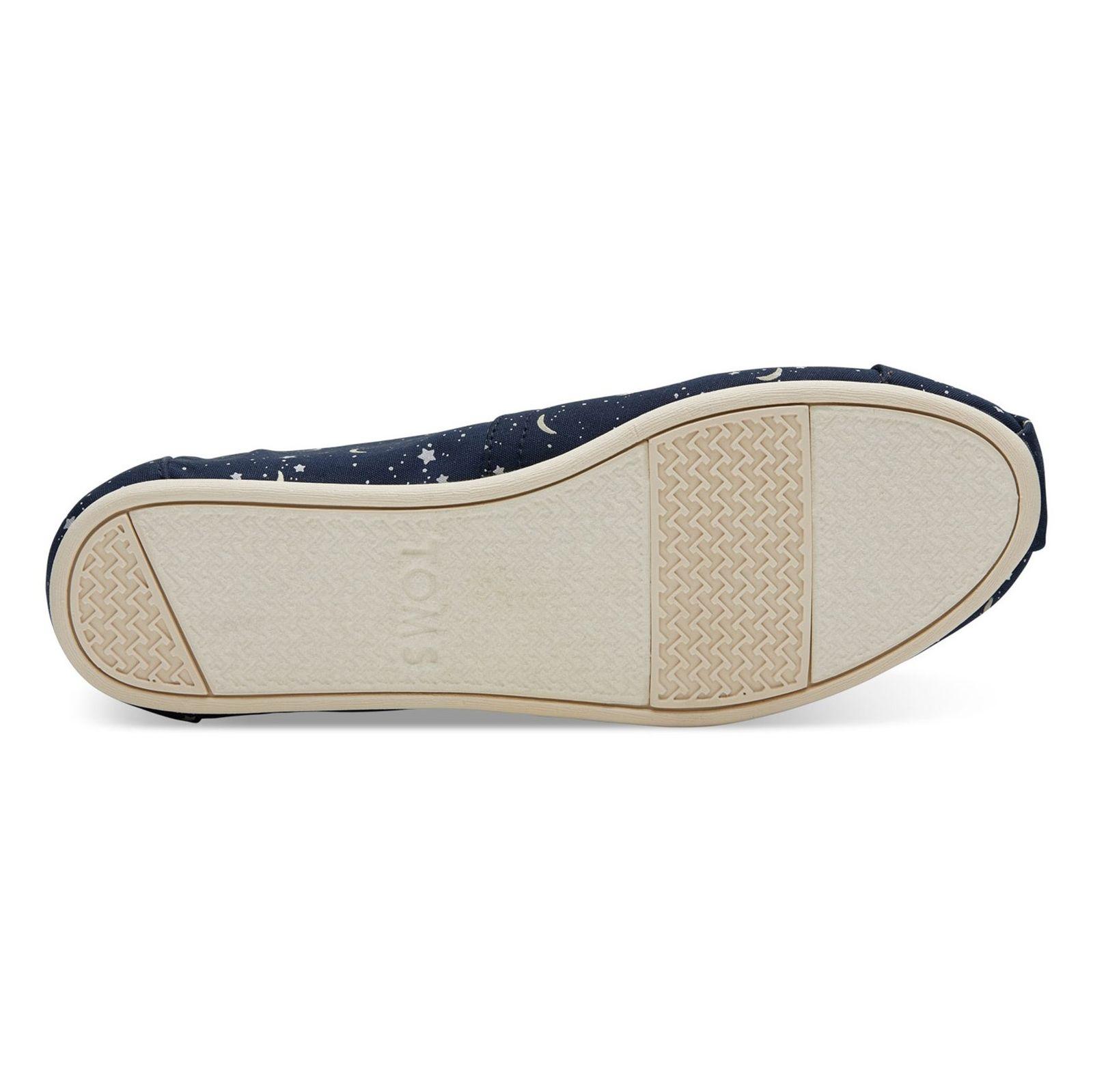 کفش تخت نخی زنانه - تامز - سرمه اي - 3