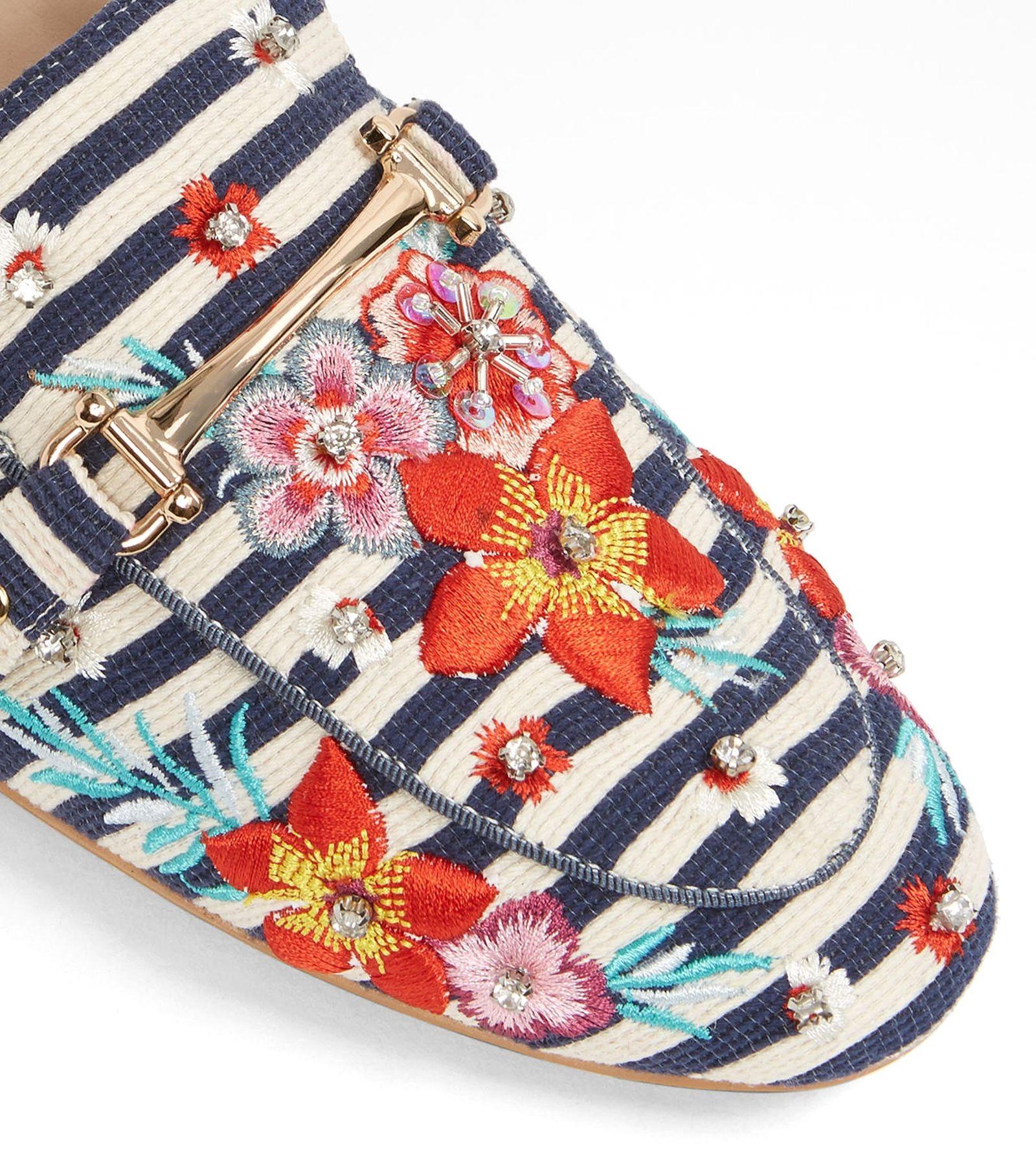 کفش تخت پارچه ای زنانه - آلدو - سرمه اي - 4