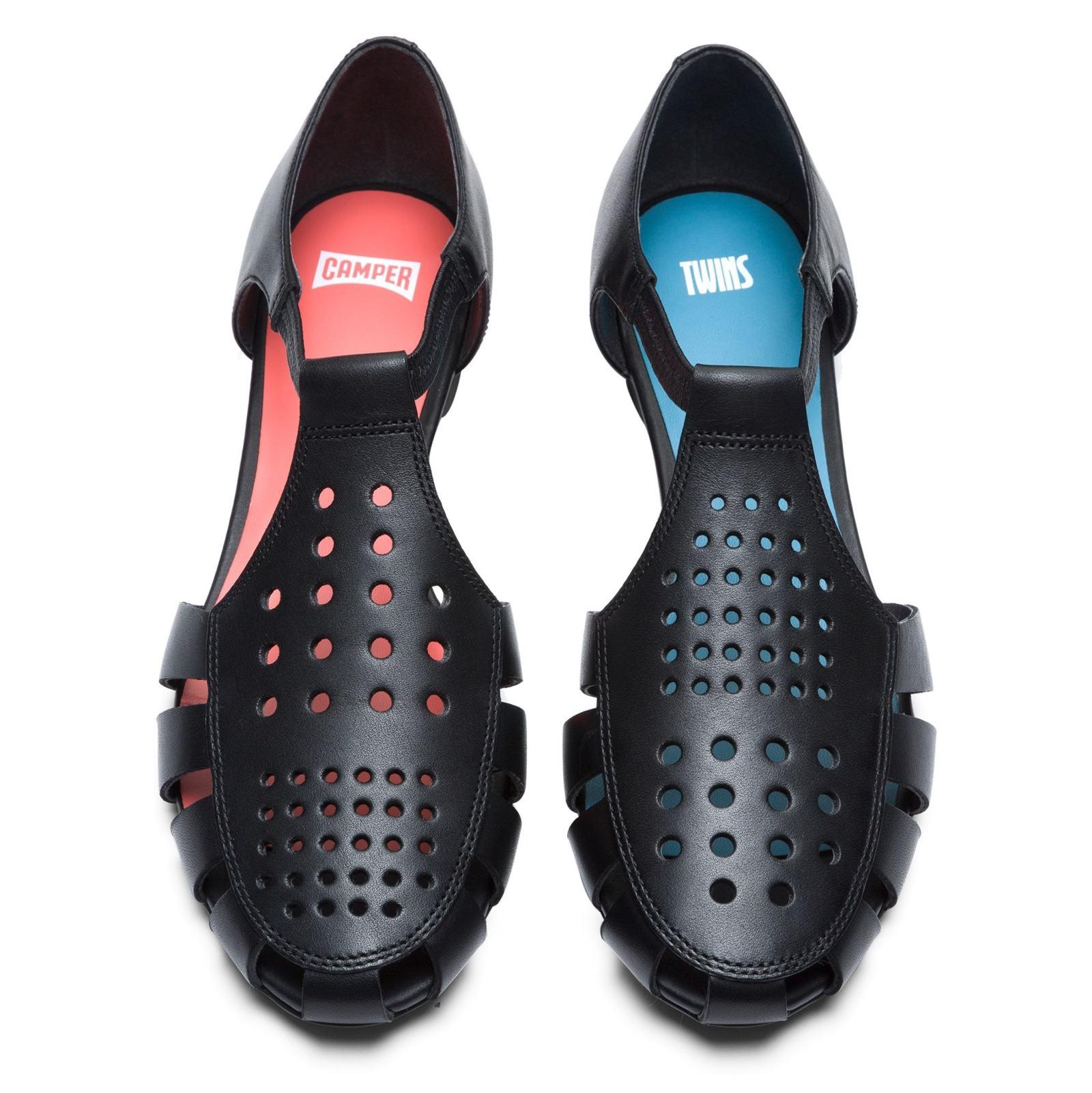 کفش چرم تخت زنانه Servolux - کمپر - مشکي - 4