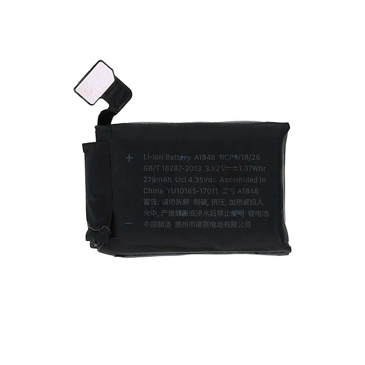 باتری مدل A1848 ظرفیت 279 میلی آمپر ساعت مناسب برای اپل واچ 38 میلی متری