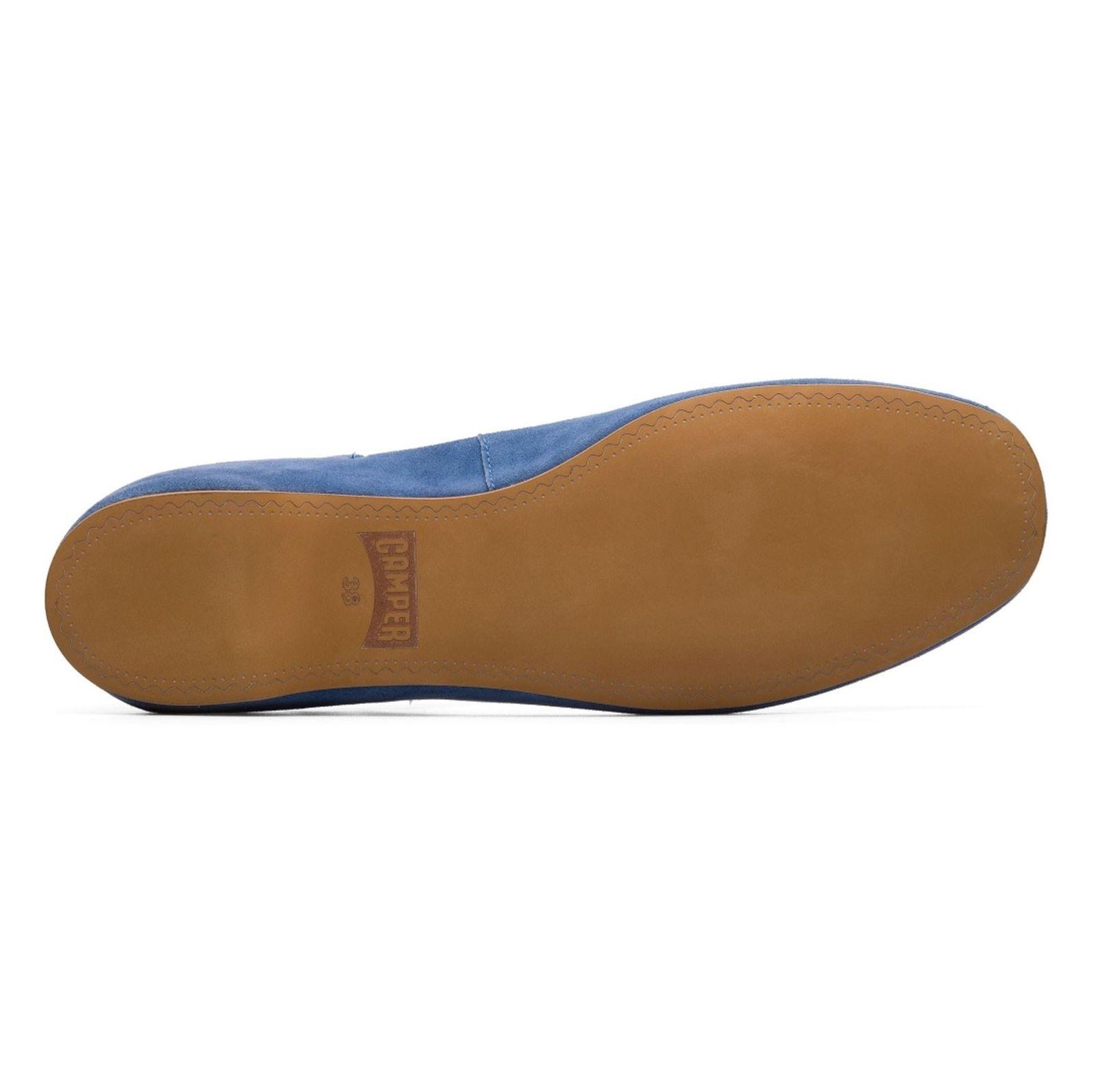 کفش تخت چرم زنانه Lucy - کمپر - آبي - 5