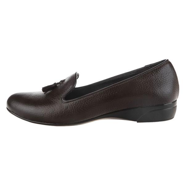 کفش چرم تخت زنانه - شیفر