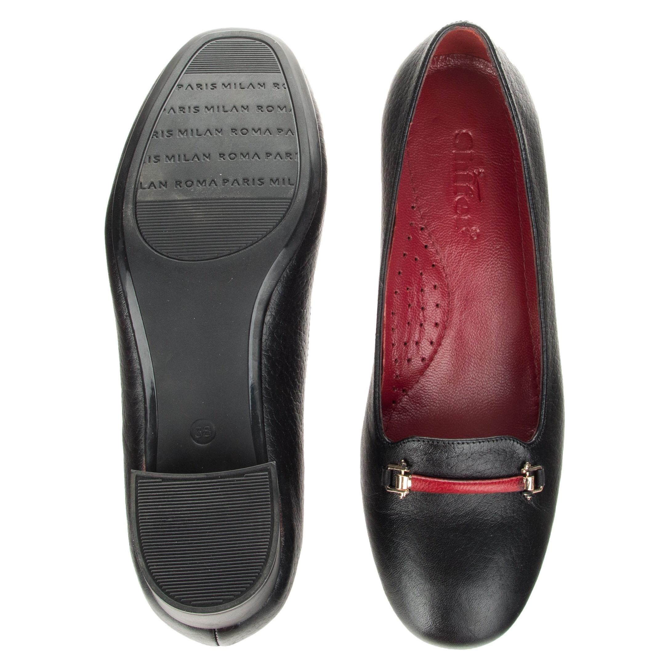 کفش پاشنه دار چرم زنانه - شیفر - مشکی - 2