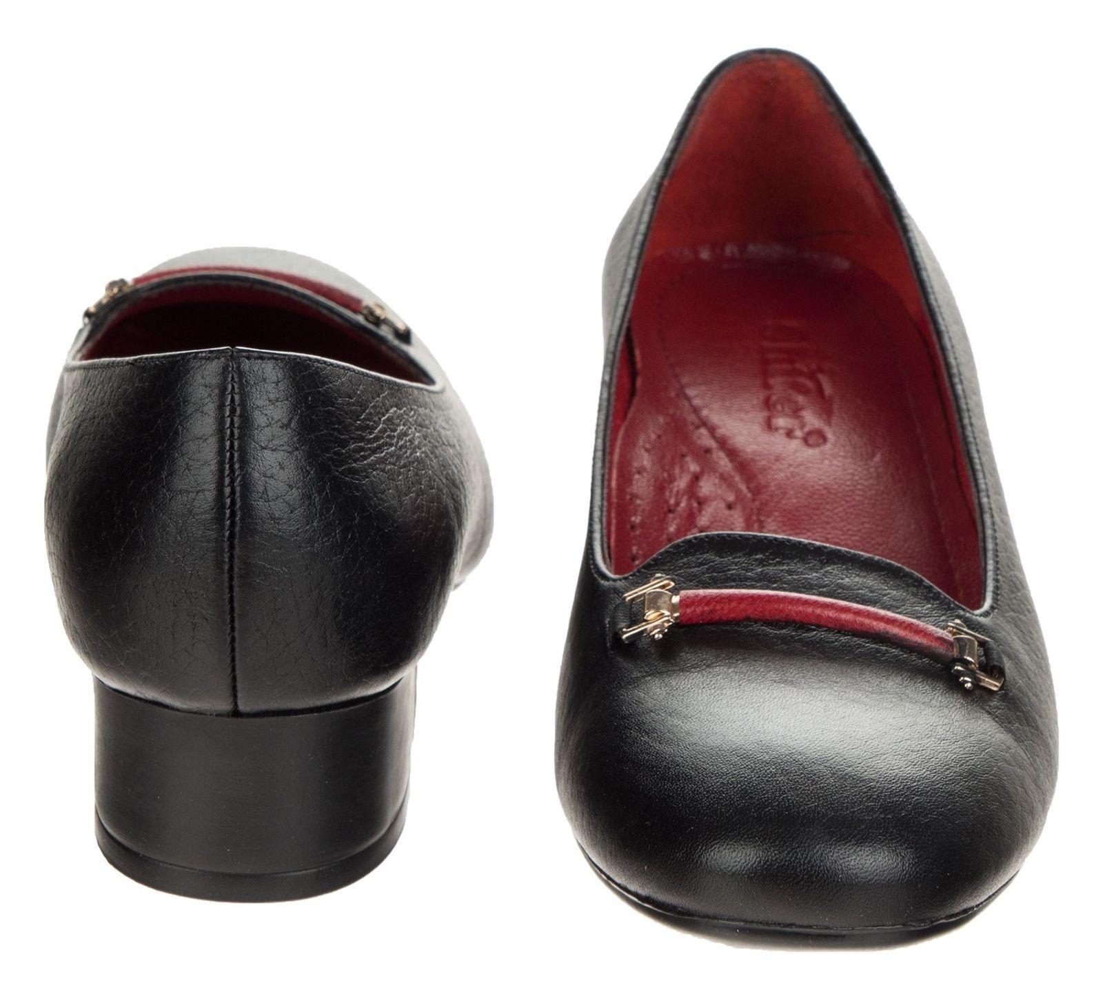 کفش پاشنه دار چرم زنانه - شیفر - مشکی - 5
