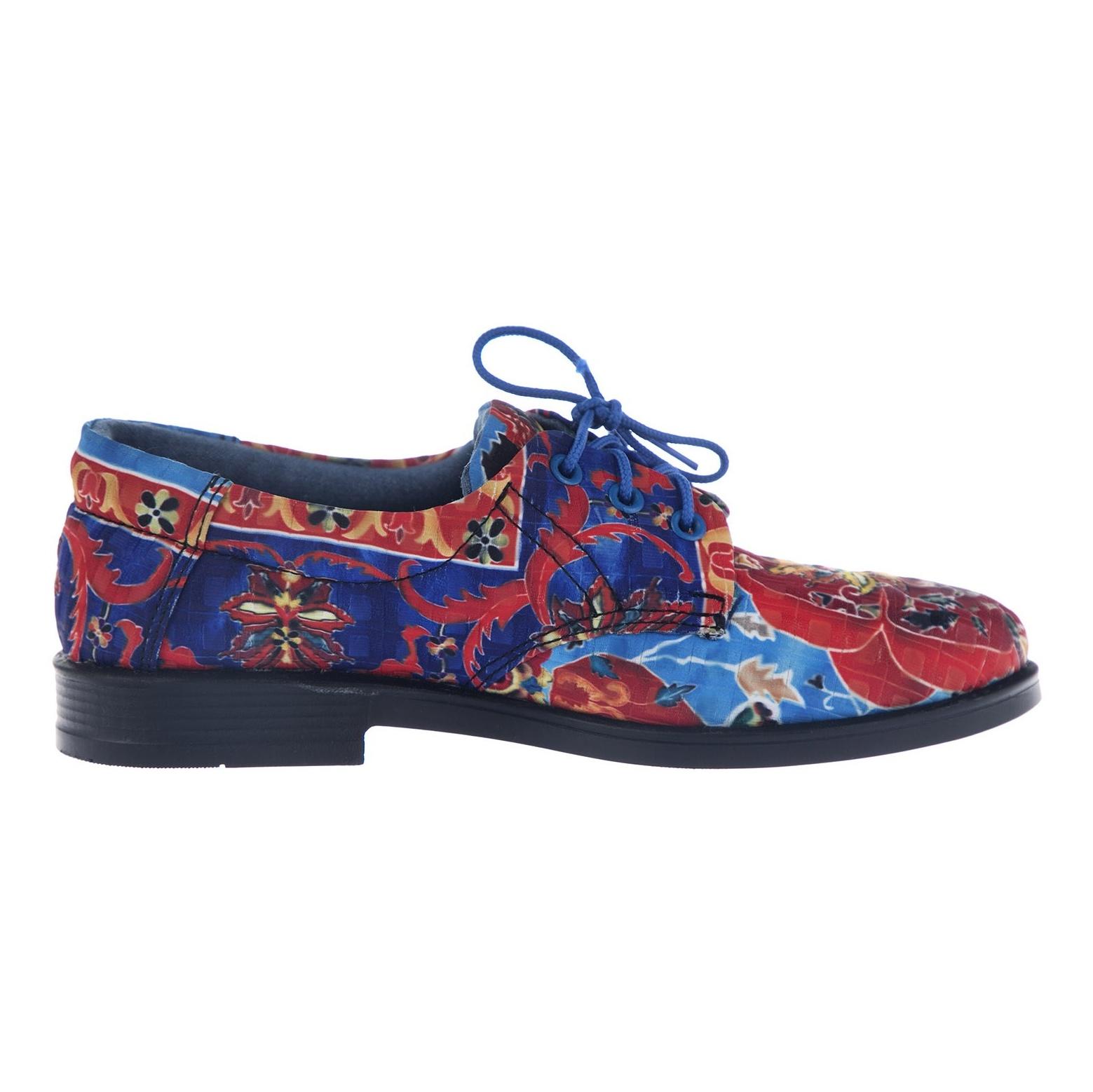 کفش تخت زنانه مدل نقاشی - مینا فخارزاده - قرمز/ آبی - 1