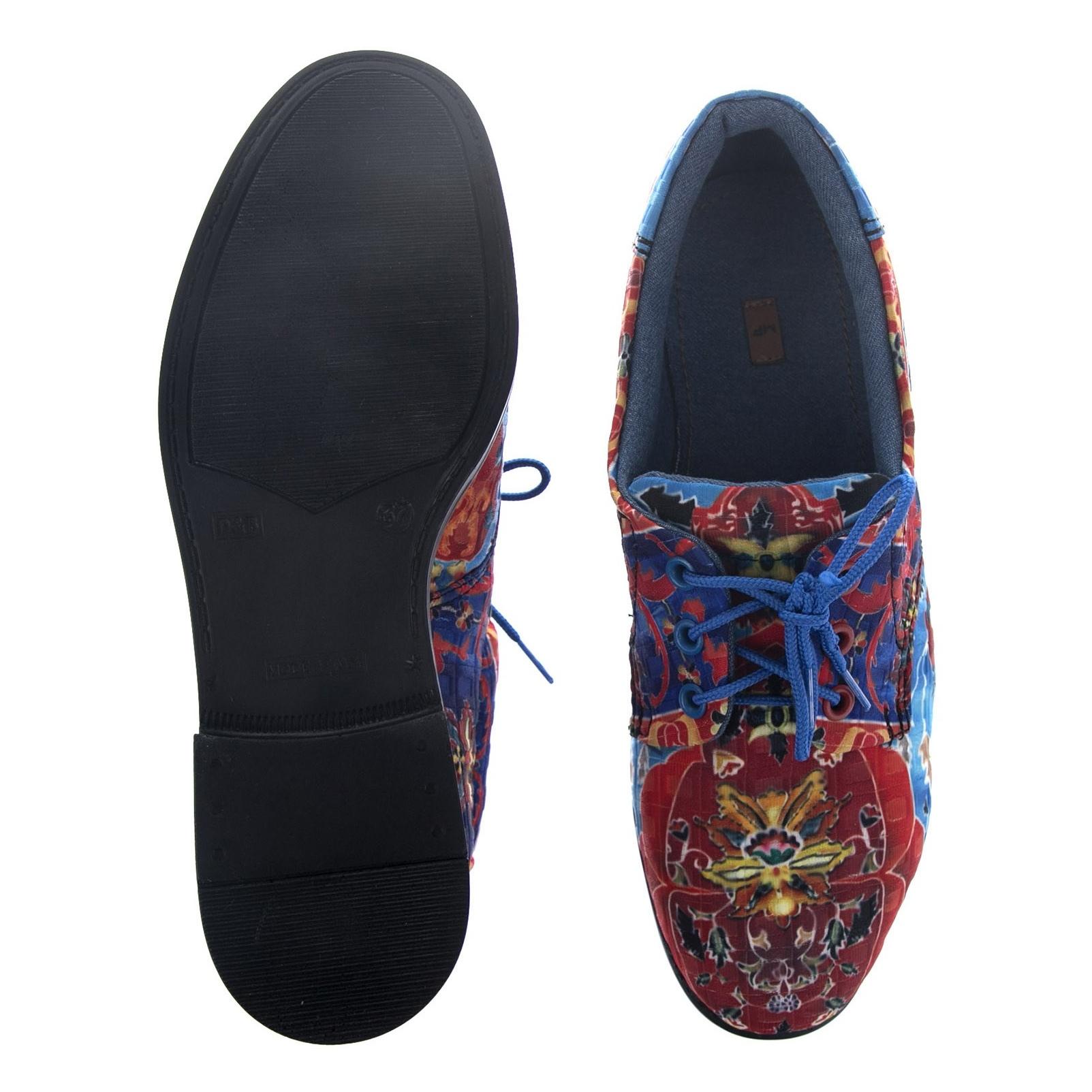 کفش تخت زنانه مدل نقاشی - مینا فخارزاده - قرمز/ آبی - 2