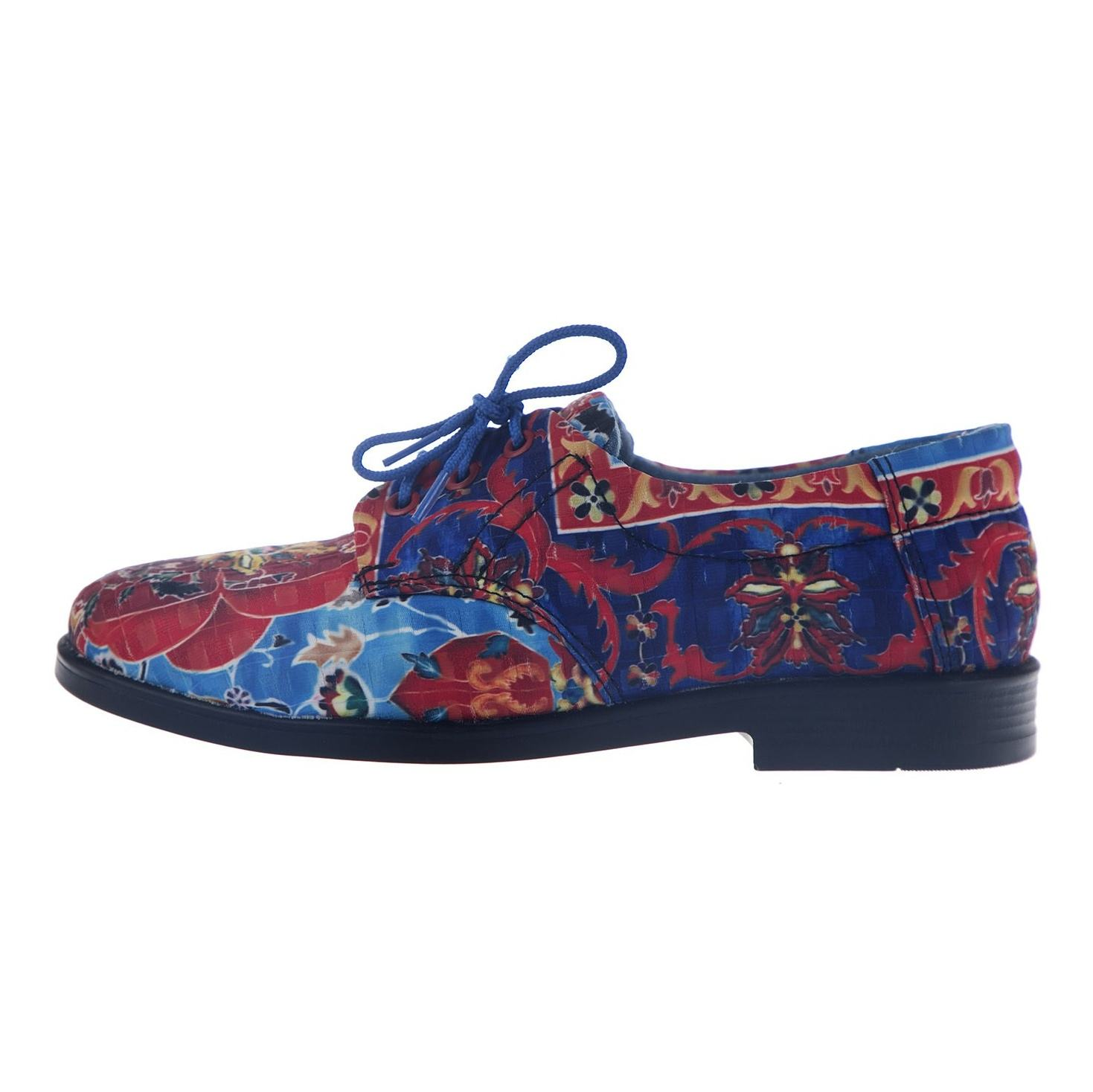 کفش تخت زنانه مدل نقاشی - مینا فخارزاده - قرمز/ آبی - 3