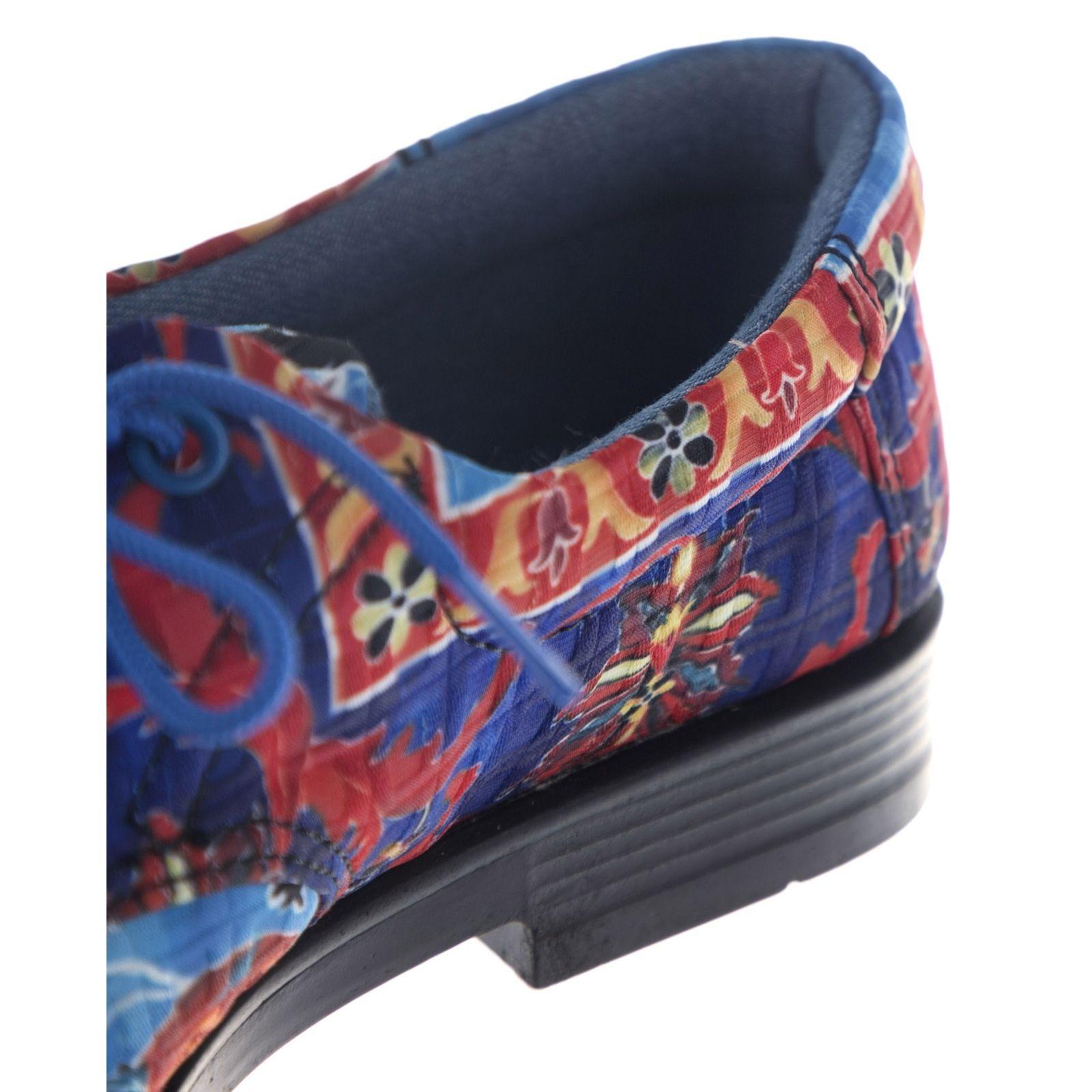 کفش تخت زنانه مدل نقاشی - مینا فخارزاده - قرمز/ آبی - 6