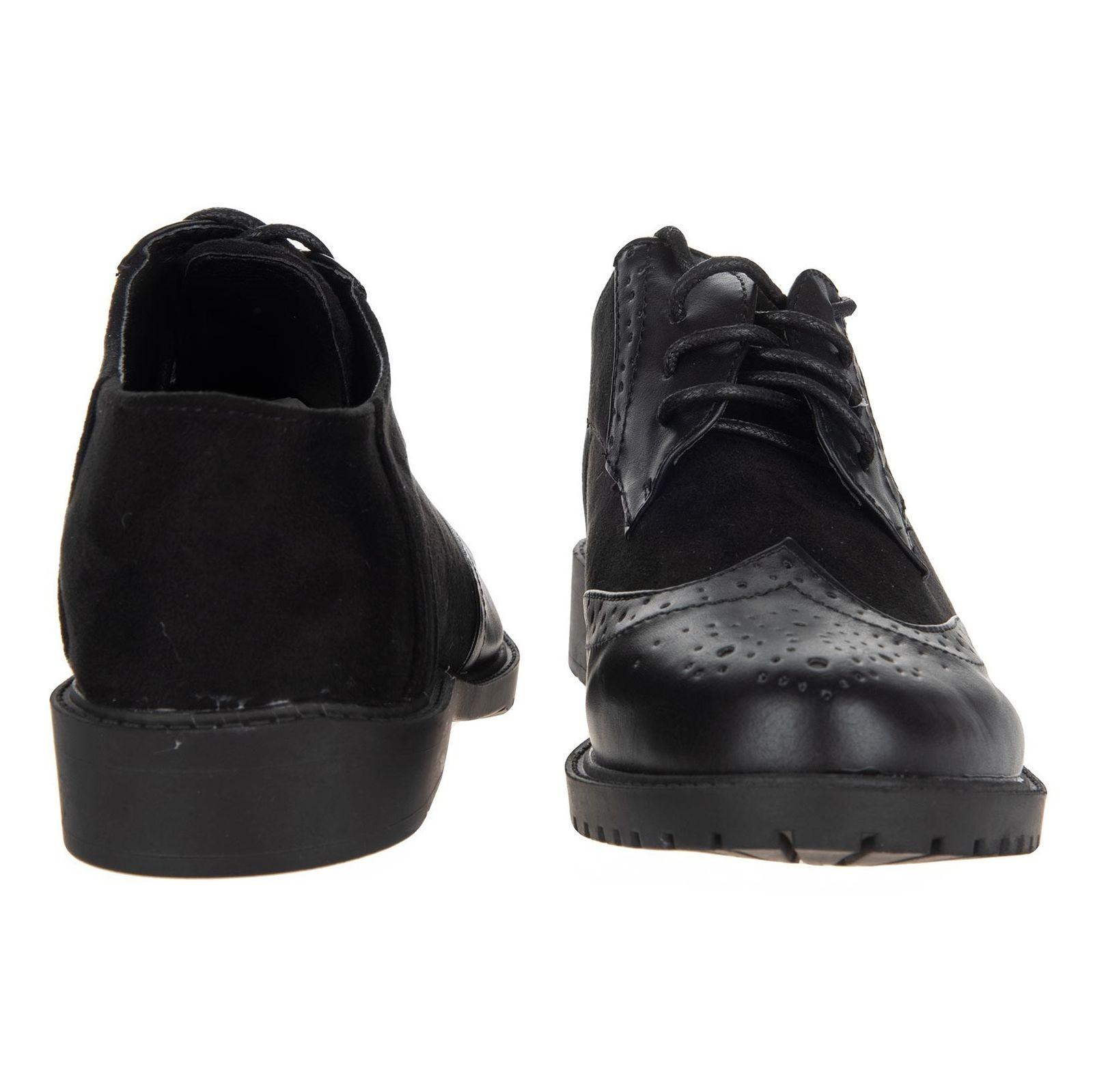 کفش تخت زنانه - مالین - مشکی - 4