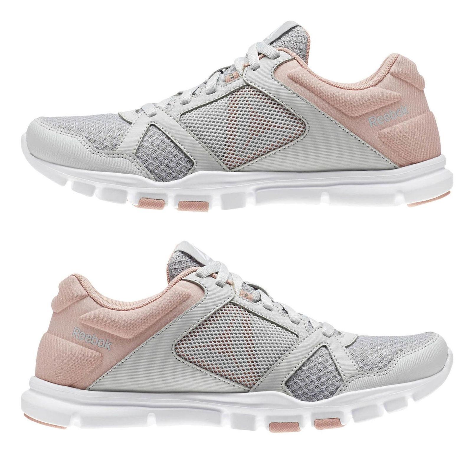کفش تمرین زنانه ریباک مدل Yourflex Trainette 10 MT - طوسي و صورتي - 2