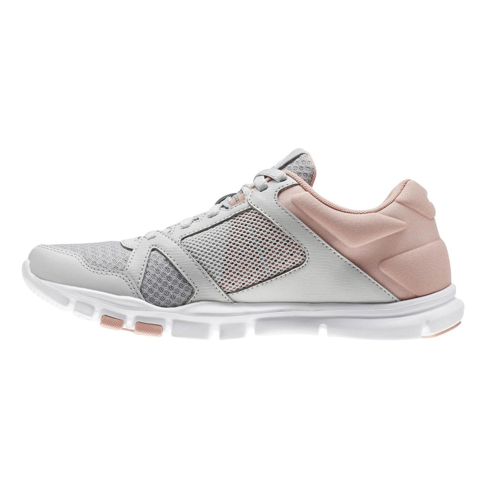 کفش تمرین زنانه ریباک مدل Yourflex Trainette 10 MT - طوسي و صورتي - 3