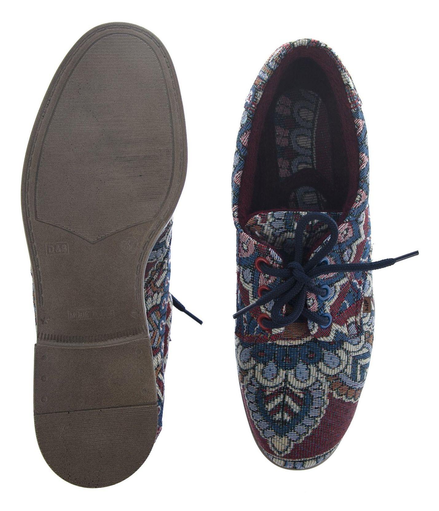 کفش تخت زنانه مدل طاووس - مینا فخارزاده - آبی / زرشکی - 2