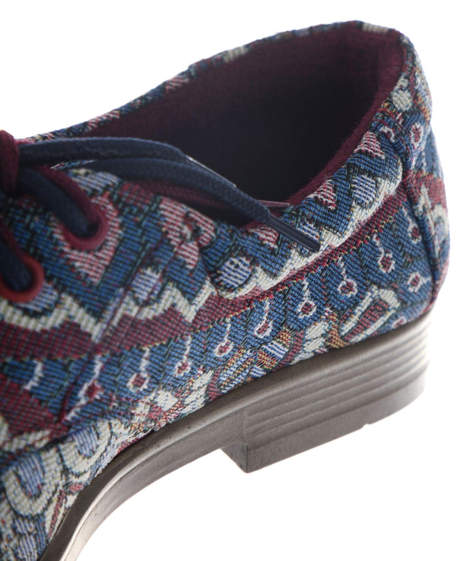 کفش تخت زنانه مدل طاووس - مینا فخارزاده - آبی / زرشکی - 6