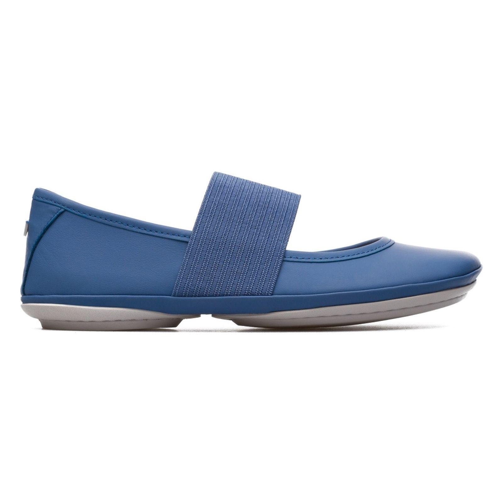 کفش تخت چرم زنانه - کمپر - آبي - 1