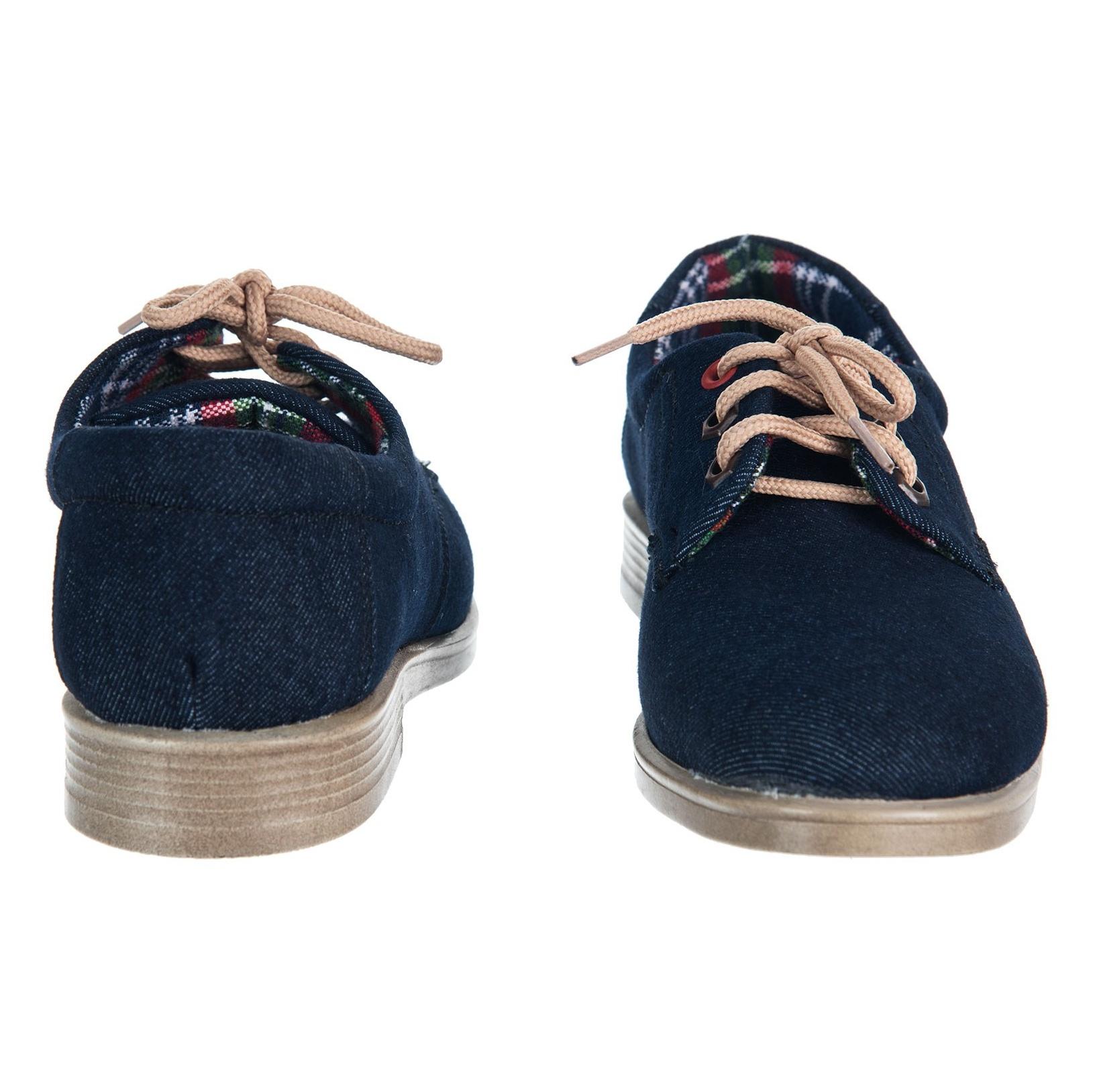 کفش تخت زنانه مدل جین - مینا فخارزاده - سرمه ای - 5