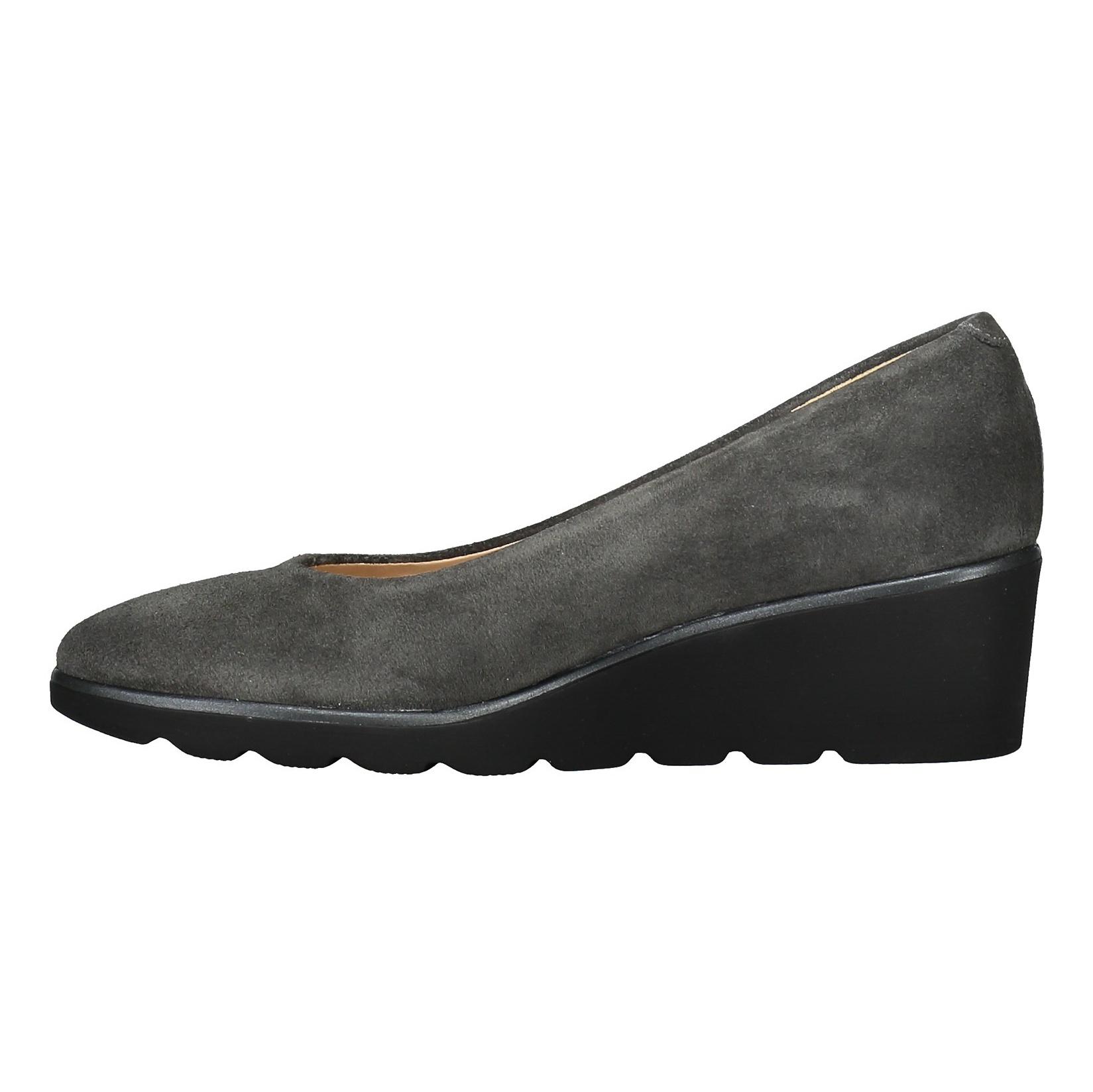 کفش جیر لژ دار چرم زنانه - پونت روما - طوسي - 3