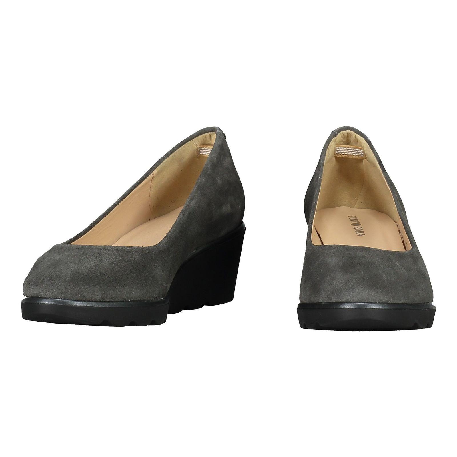 کفش جیر لژ دار چرم زنانه - پونت روما - طوسي - 4
