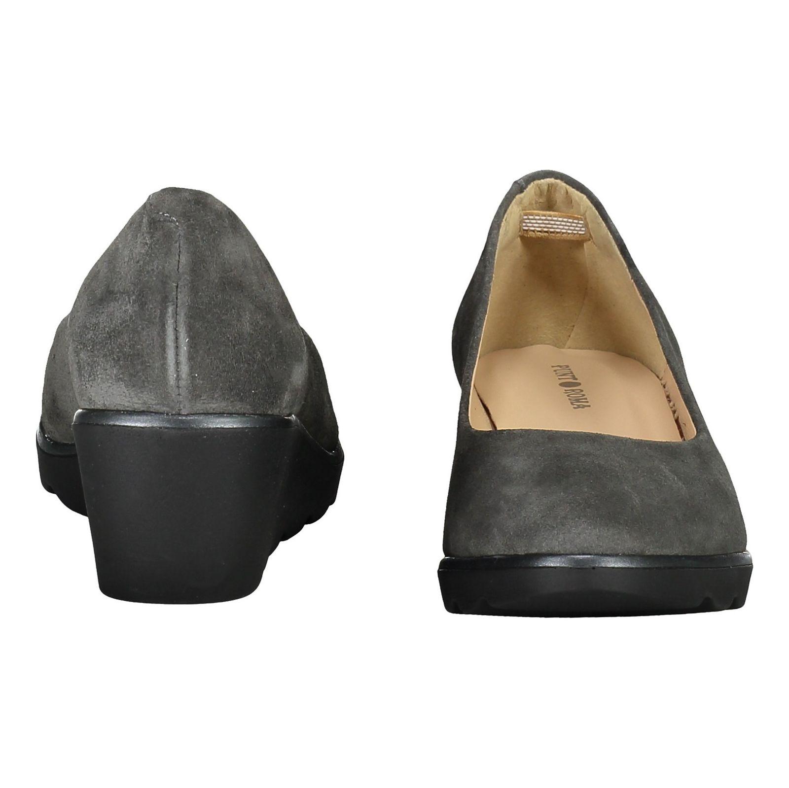 کفش جیر لژ دار چرم زنانه - پونت روما - طوسي - 5