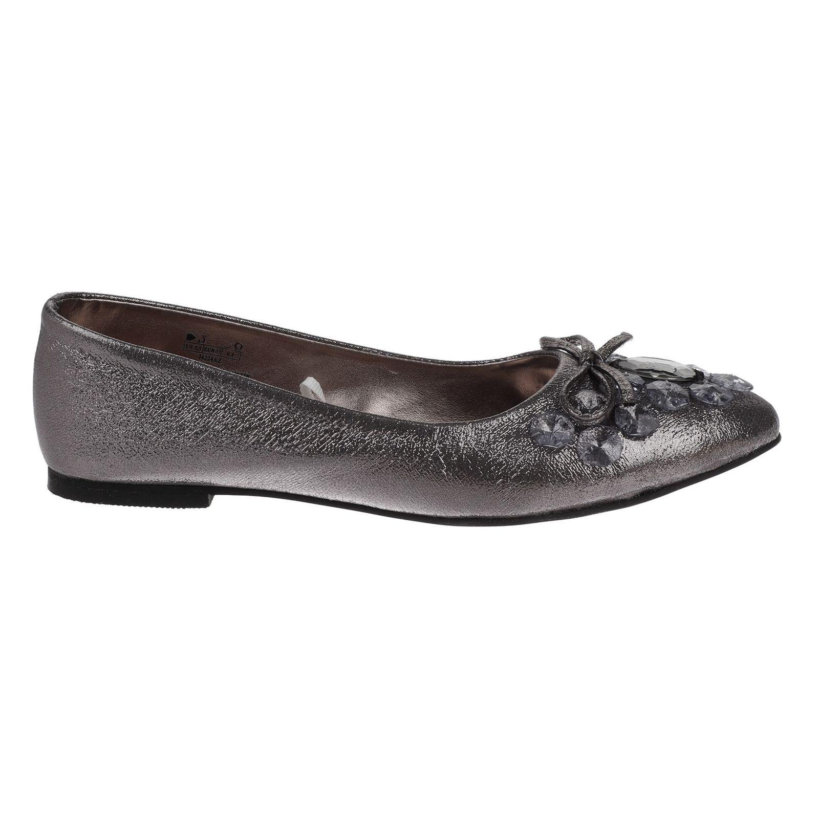 کفش تخت زنانه - دفکتو - نقراه اي براق - 2