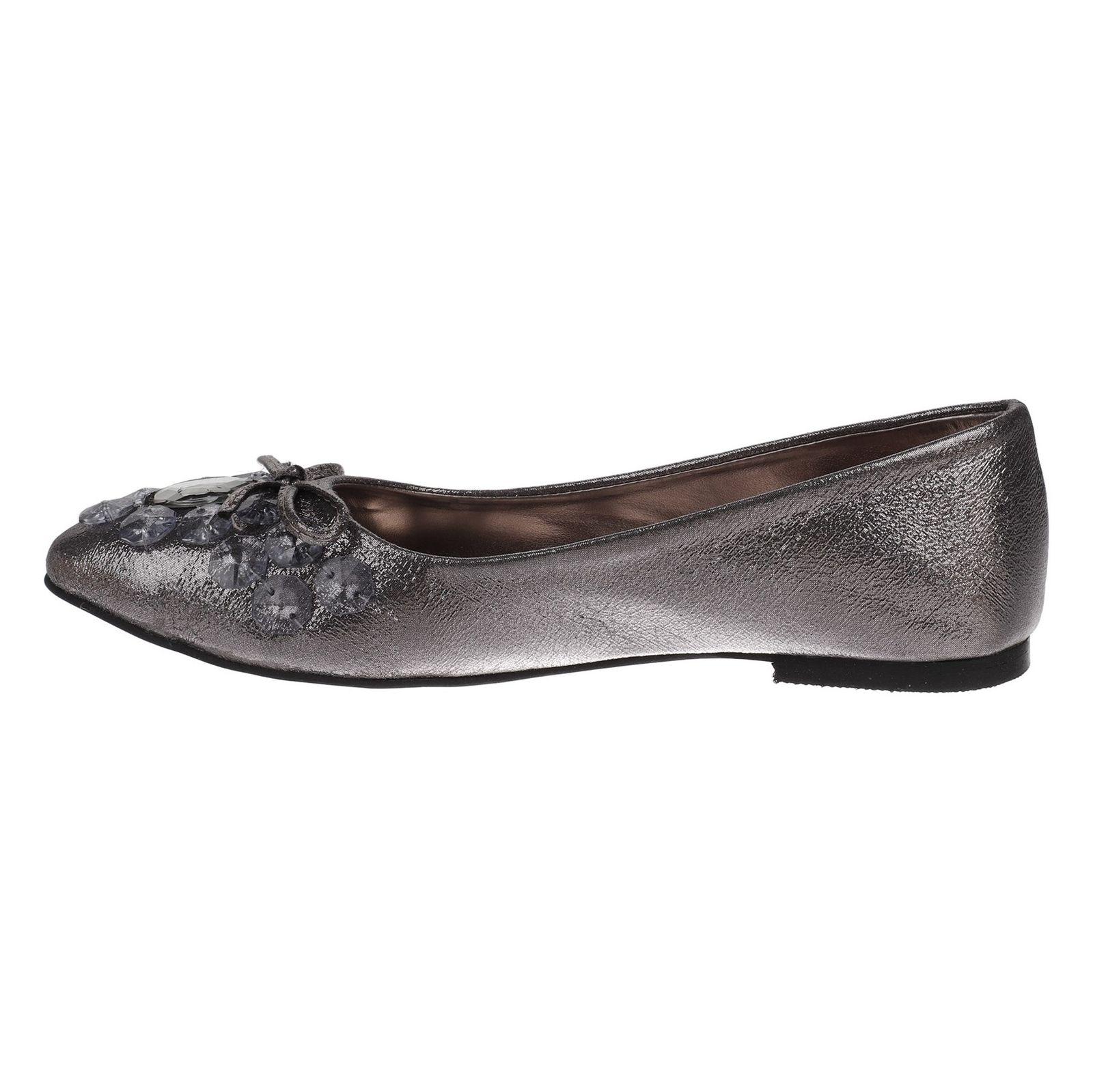 کفش تخت زنانه - دفکتو - نقراه اي براق - 3