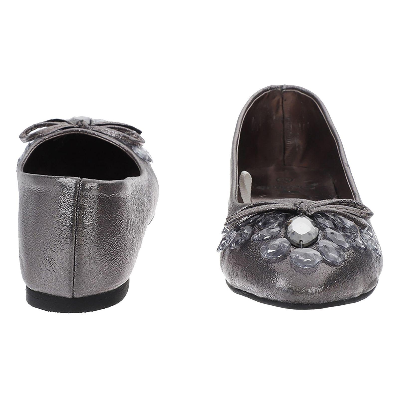 کفش تخت زنانه - دفکتو - نقراه اي براق - 5