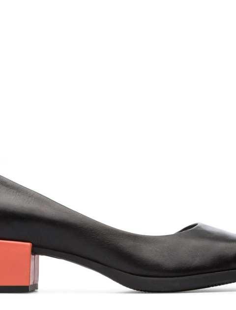 کفش پاشنه دار چرم زنانه - کمپر