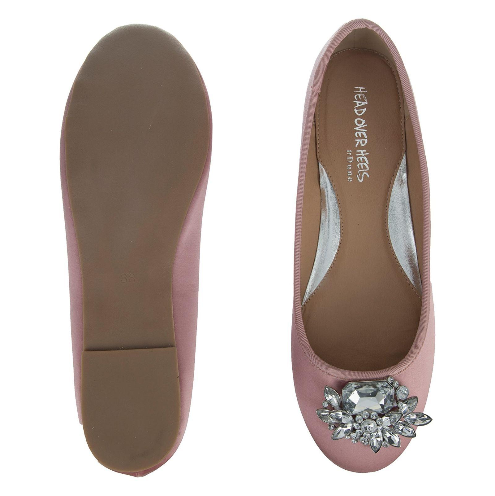 کفش تخت پارچه ای زنانه Hiya - دون لندن - صورتي - 2