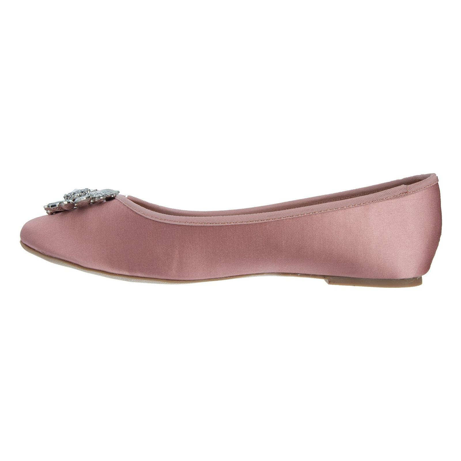 کفش تخت پارچه ای زنانه Hiya - دون لندن - صورتي - 3
