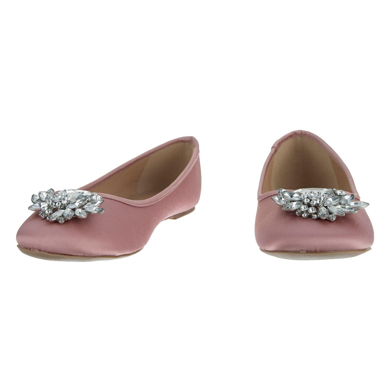 کفش تخت پارچه ای زنانه Hiya - دون لندن - صورتي - 4
