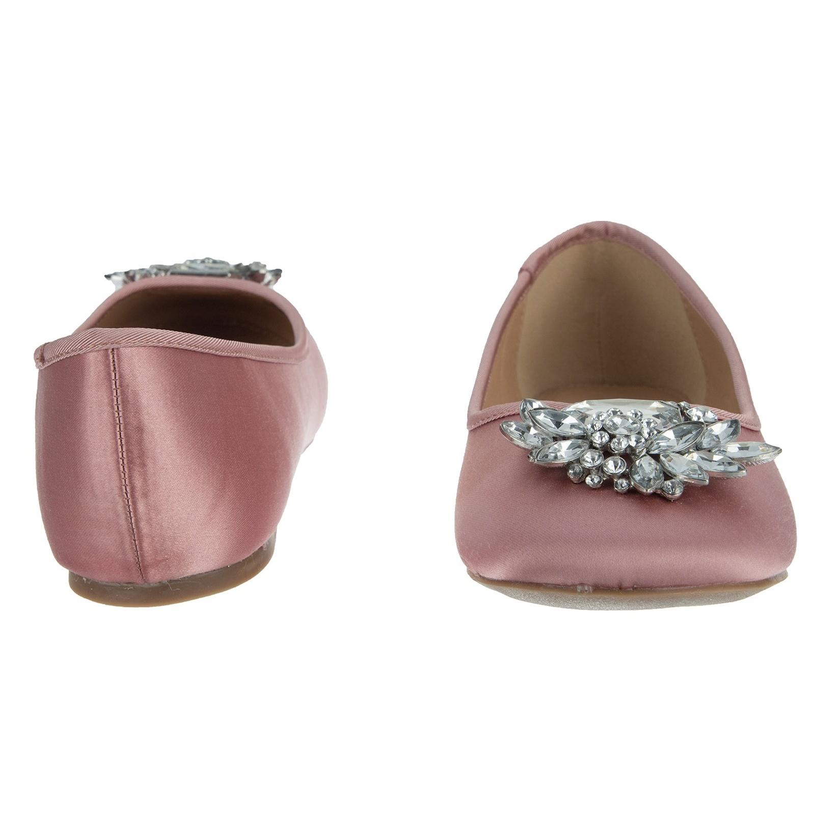 کفش تخت پارچه ای زنانه Hiya - دون لندن - صورتي - 5