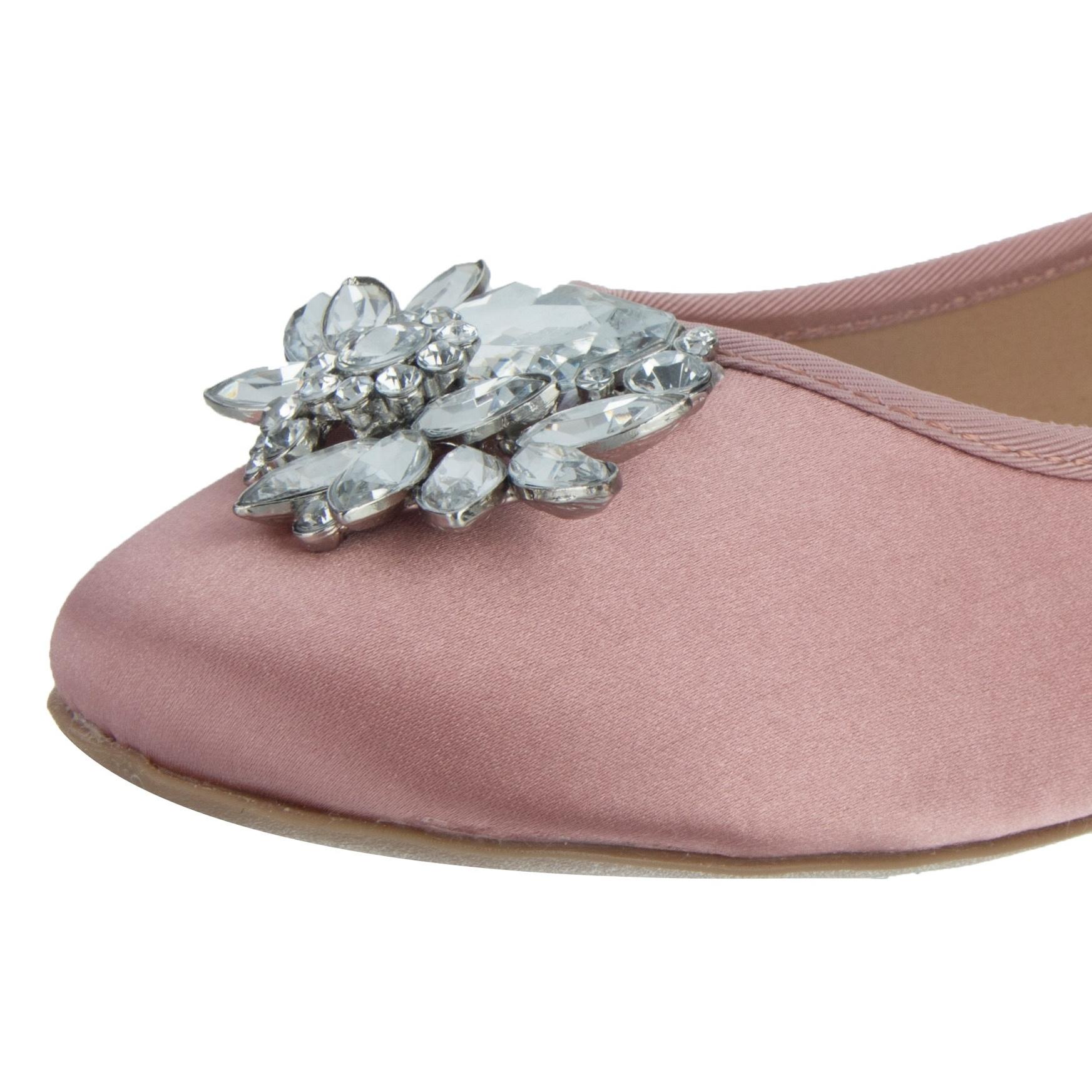 کفش تخت پارچه ای زنانه Hiya - دون لندن - صورتي - 6