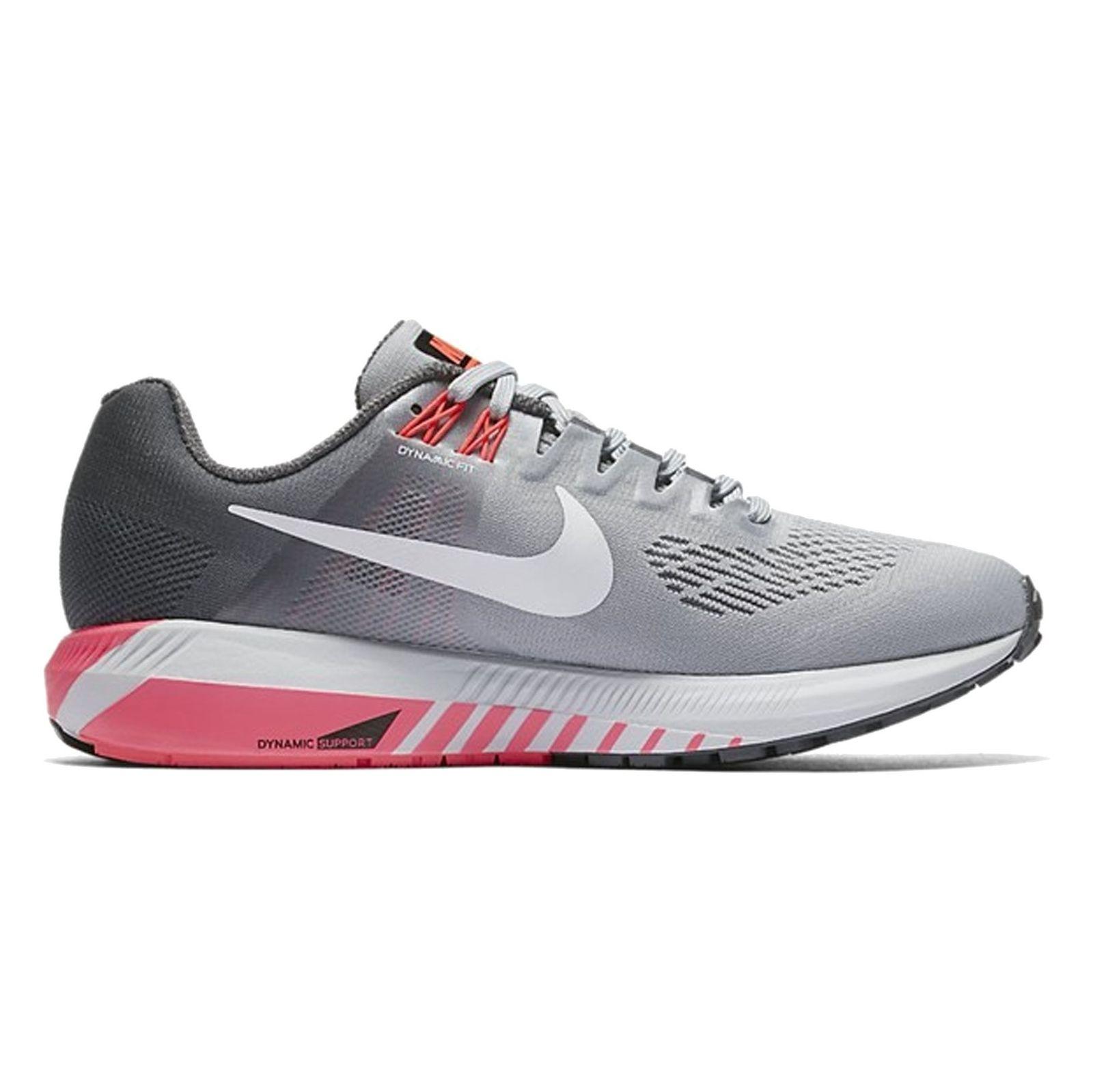 کفش دویدن بندی زنانه Air Zoom Structure 21 - نایکی - طوسي و مشکي - 1