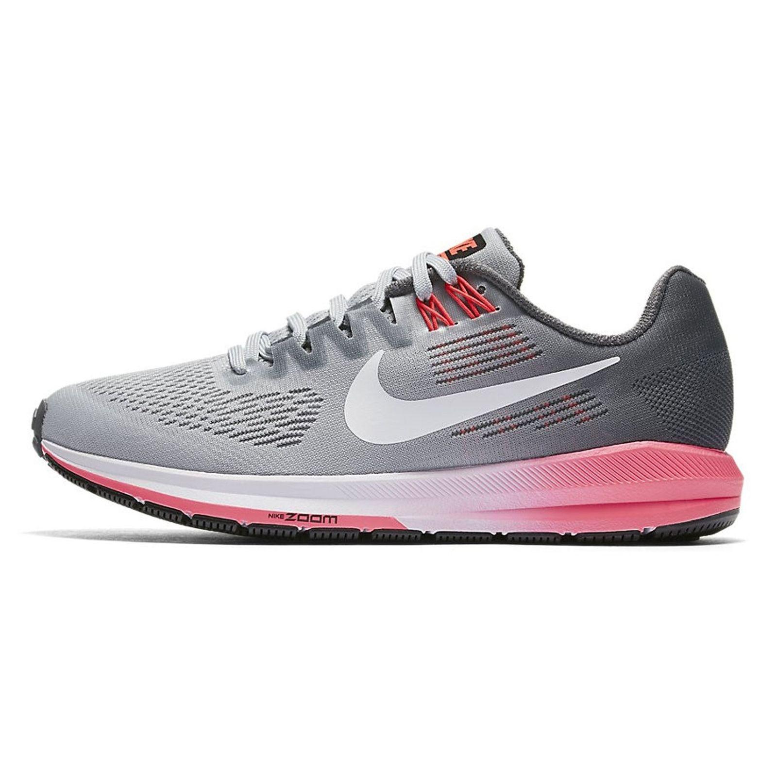 کفش دویدن بندی زنانه Air Zoom Structure 21 - نایکی - طوسي و مشکي - 4