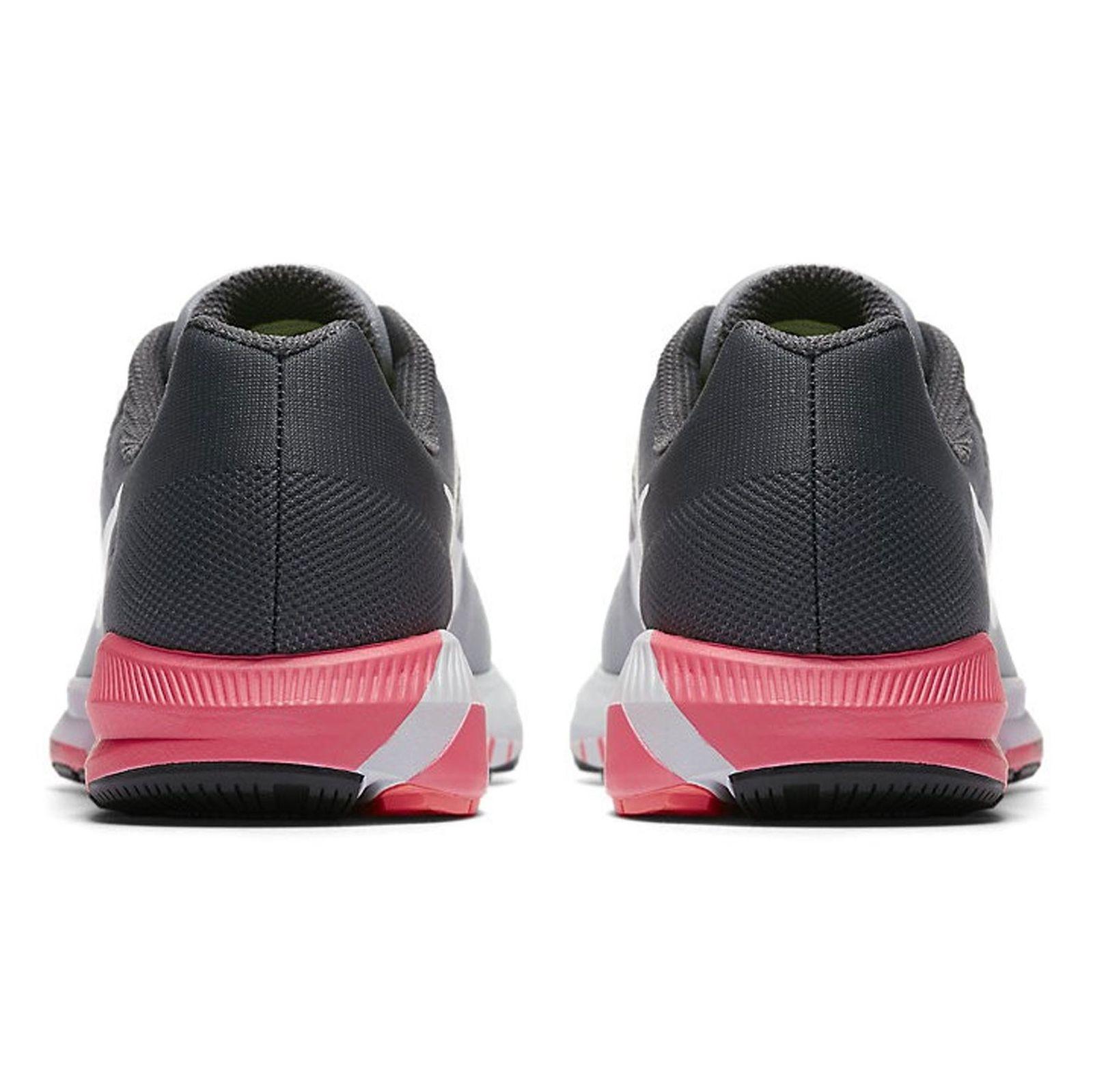 کفش دویدن بندی زنانه Air Zoom Structure 21 - نایکی - طوسي و مشکي - 5