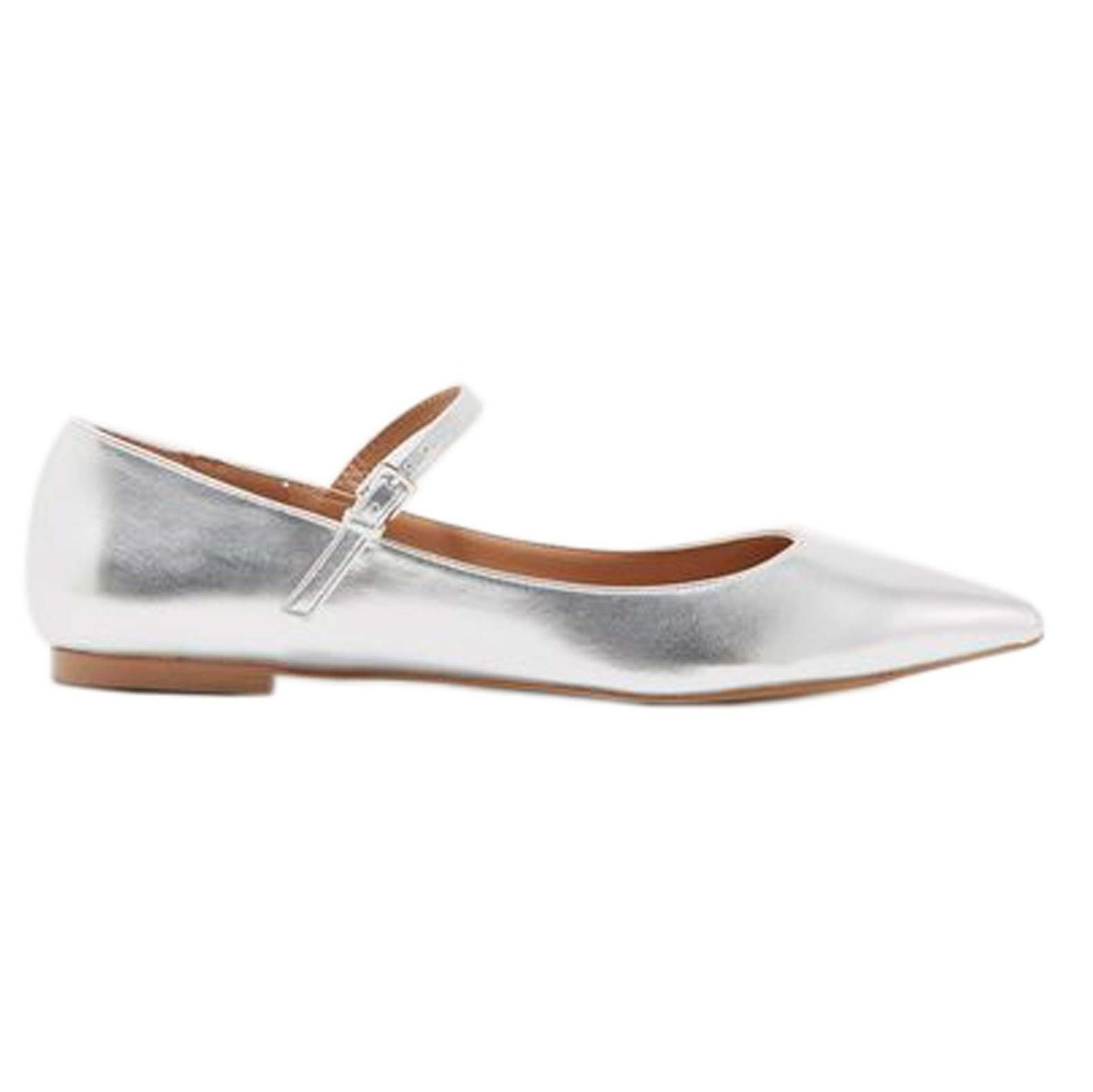کفش تخت زنانه ویولتا بای مانگو Fani - نقرهاي - 1