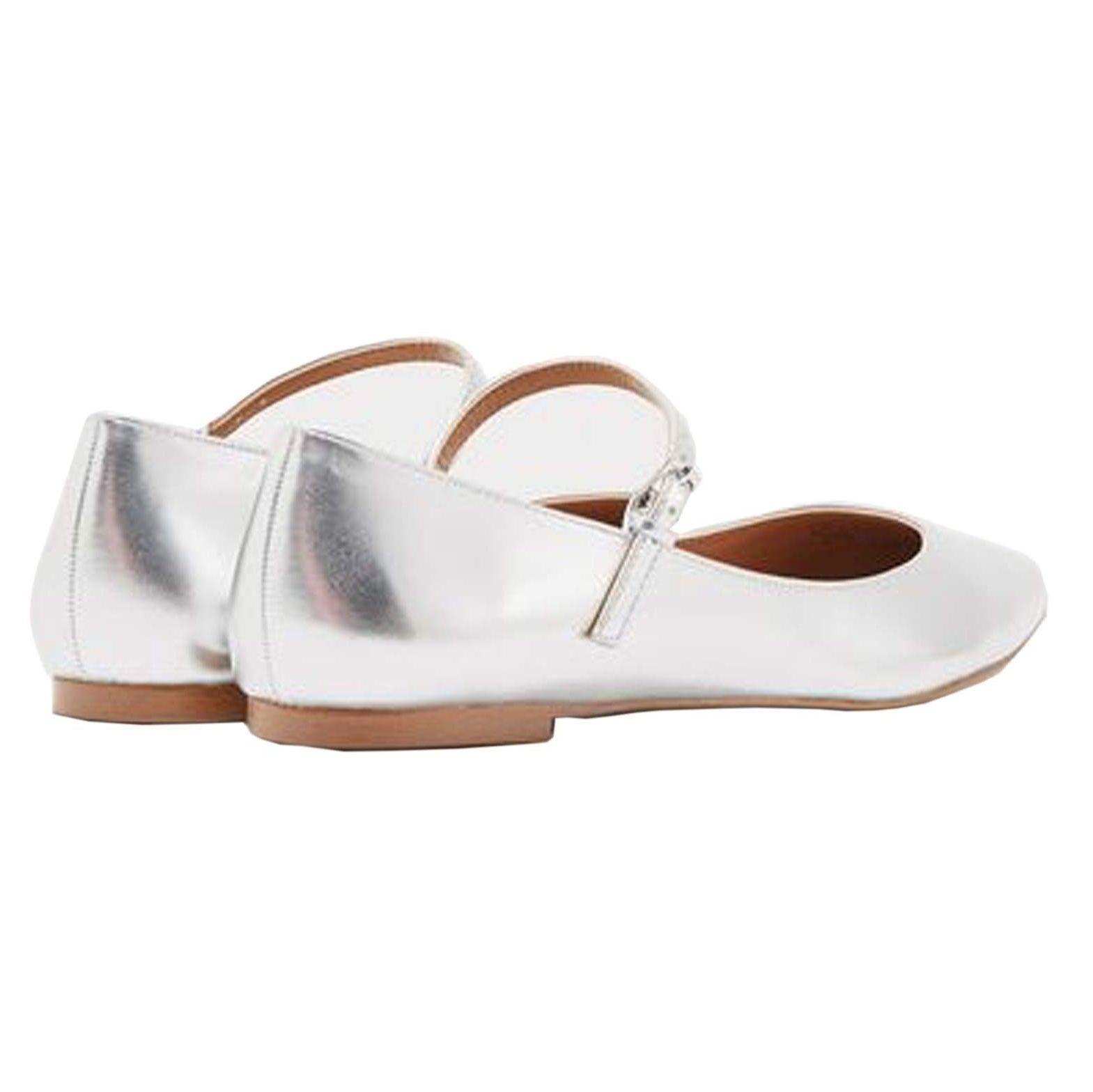 کفش تخت زنانه ویولتا بای مانگو Fani - نقرهاي - 2