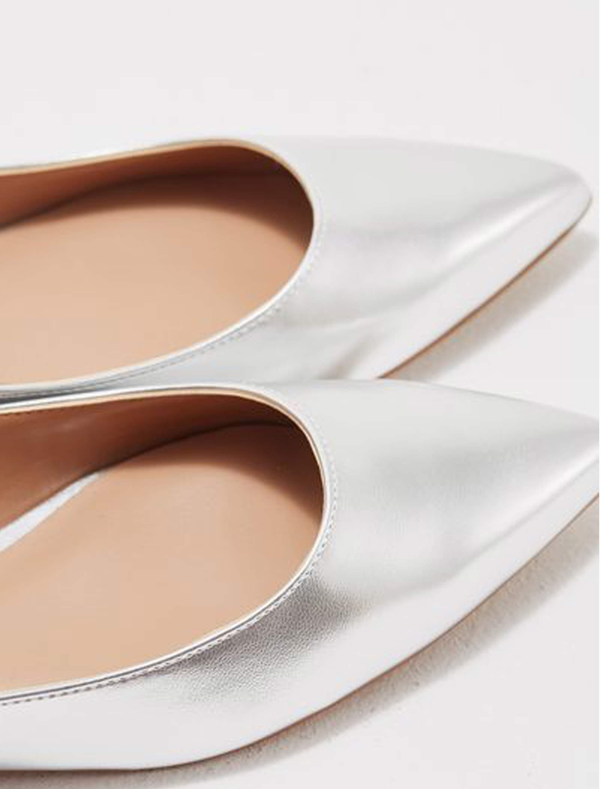 کفش تخت زنانه ویولتا بای مانگو Fani - نقرهاي - 4