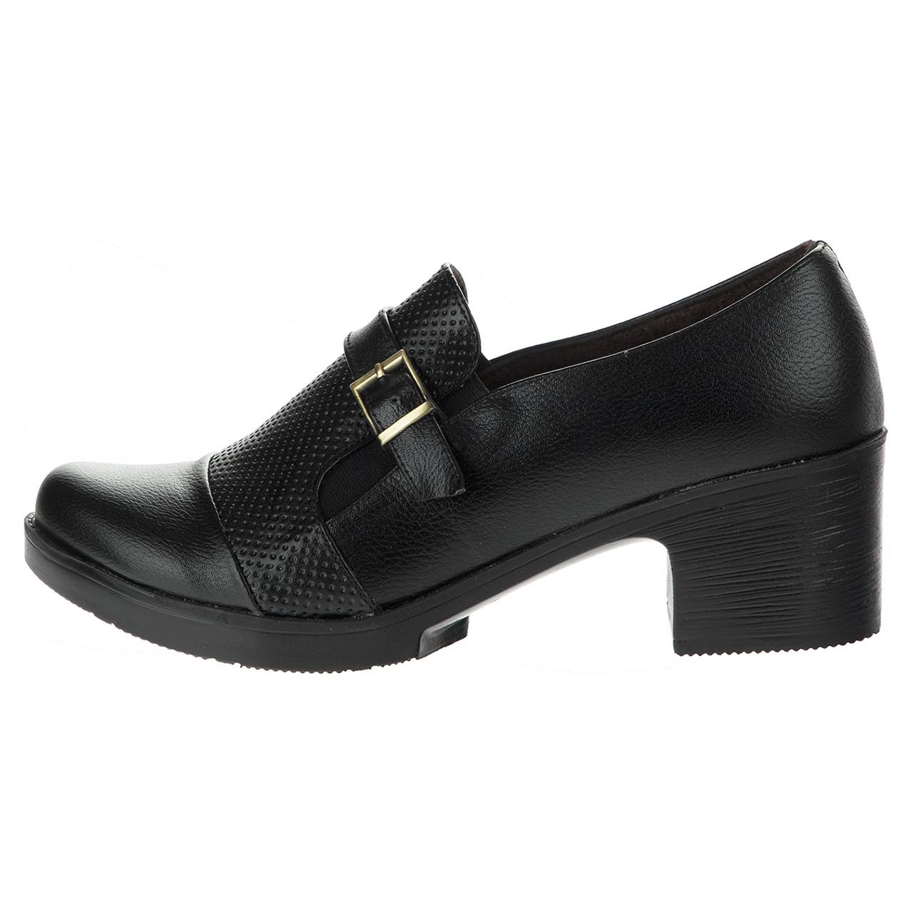 تصویر کفش  زنانه طبی سینا مدل بنفشه رنگ مشکی